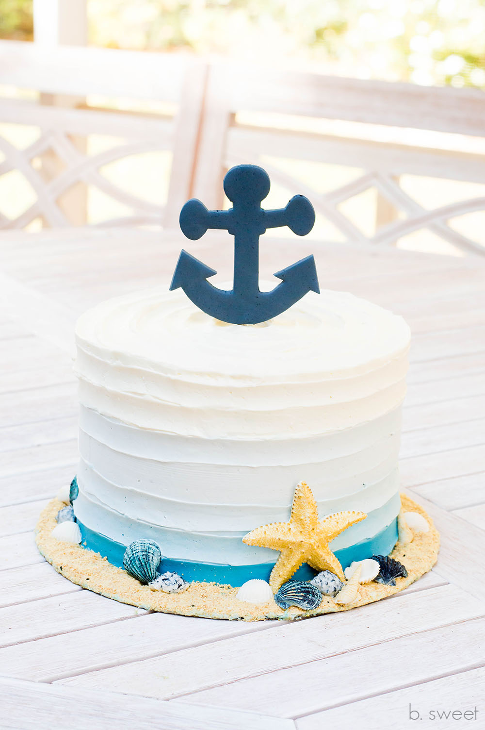Nautical Ombre Cake - b. sweet