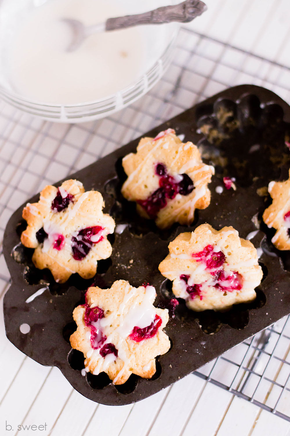 Cranberry Cakelettes - b. sweet
