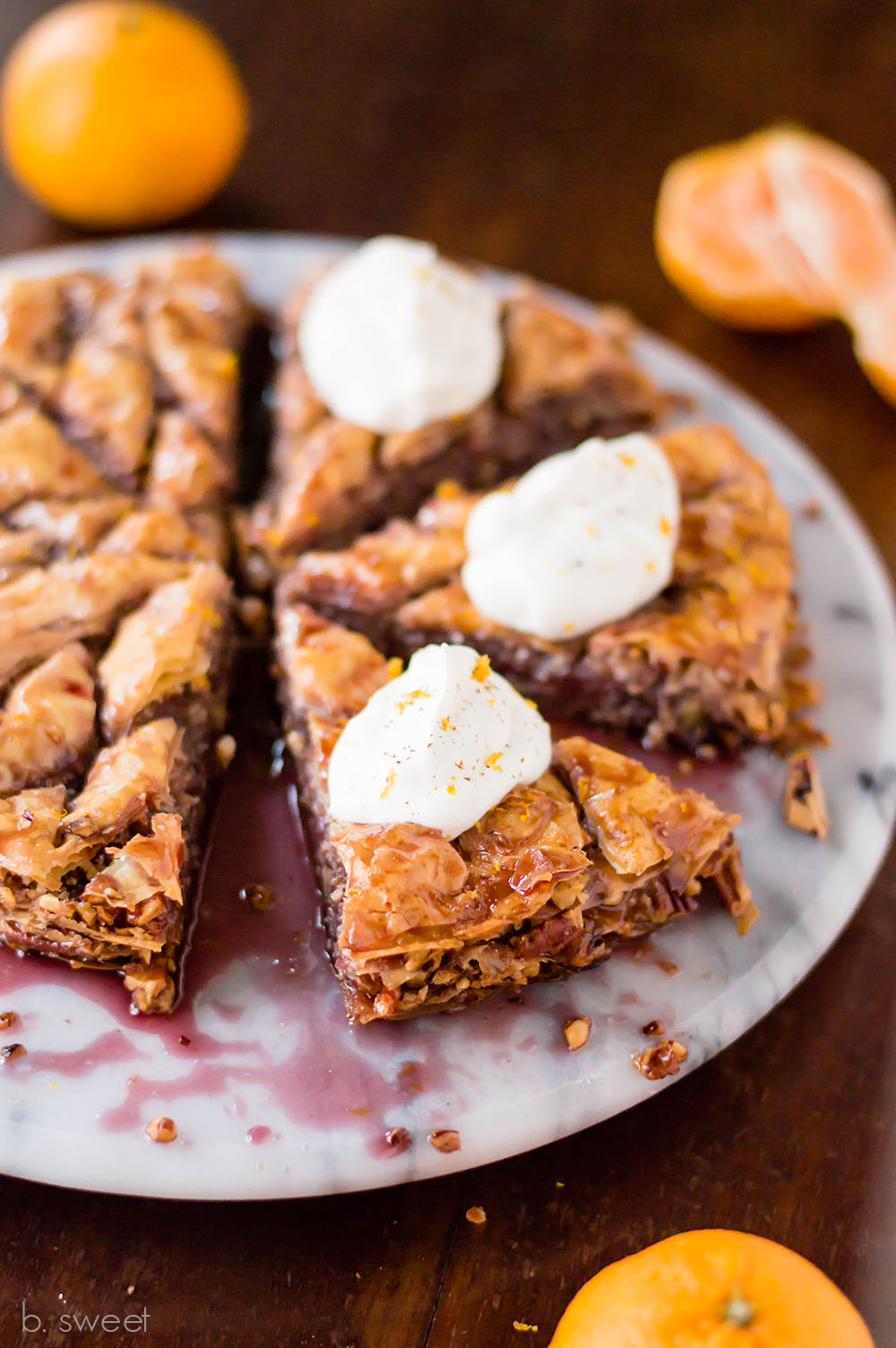Spiced Wine Pecan Baklava Pie - b. sweet