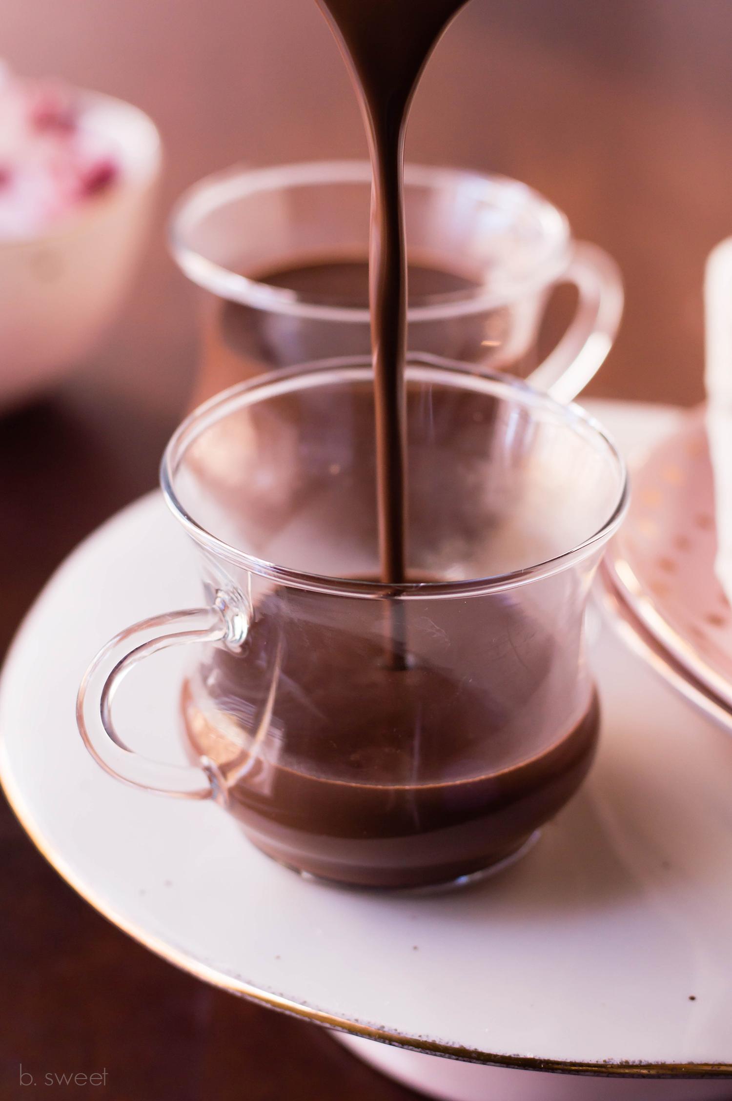 Dark Chocolate Raspberry Hot Chocolate for Two - b. sweet