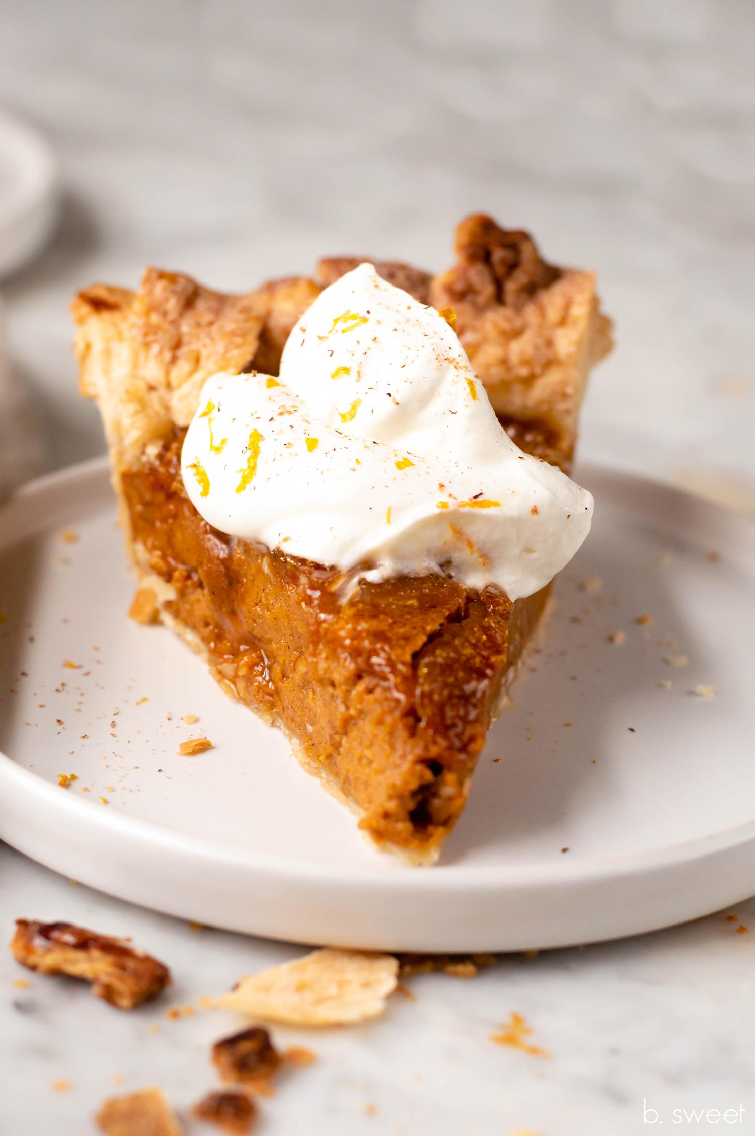 Pumpkin Pie Brulee - b. sweet