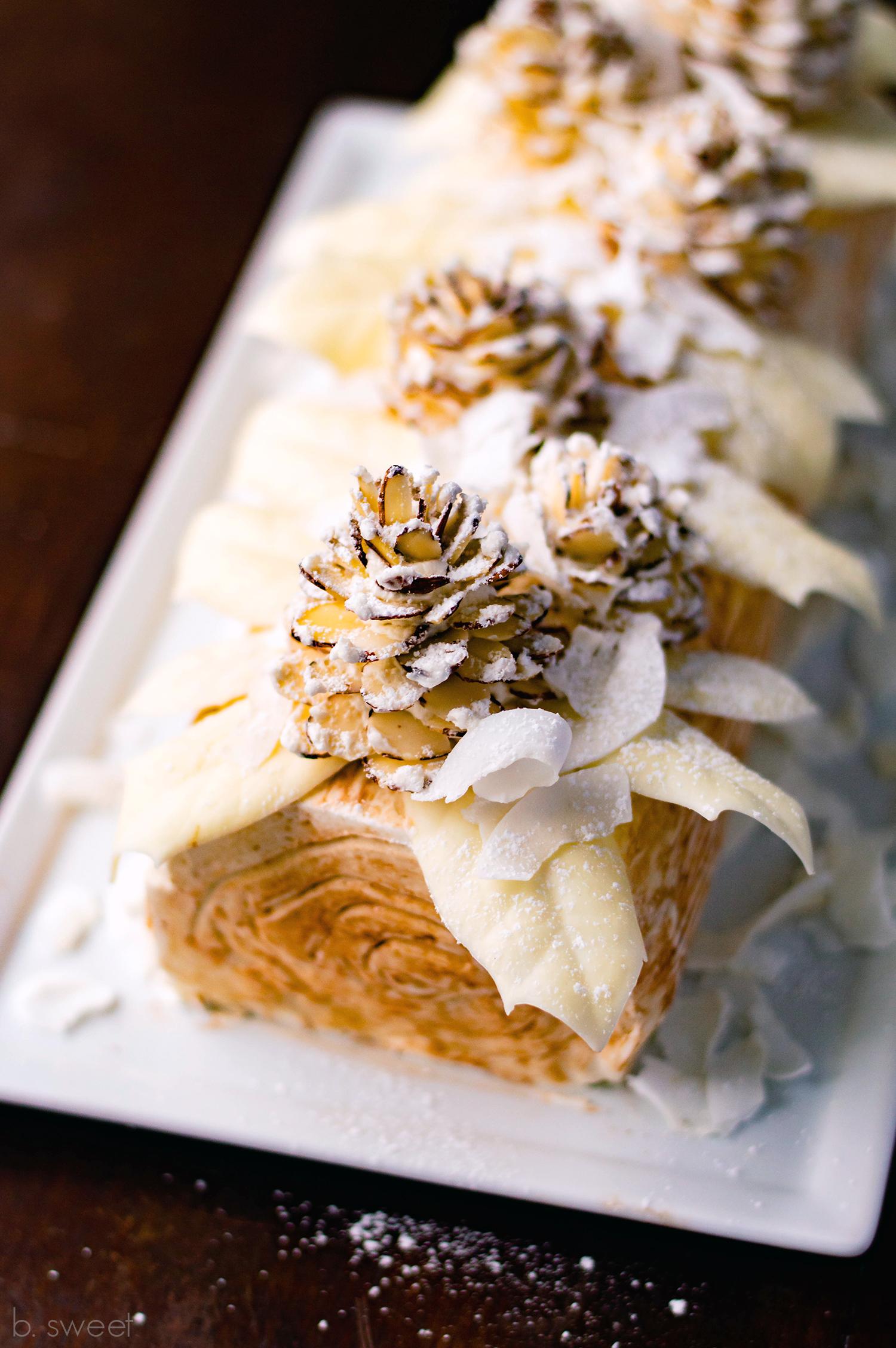 Winter White Yule Log - b. sweet