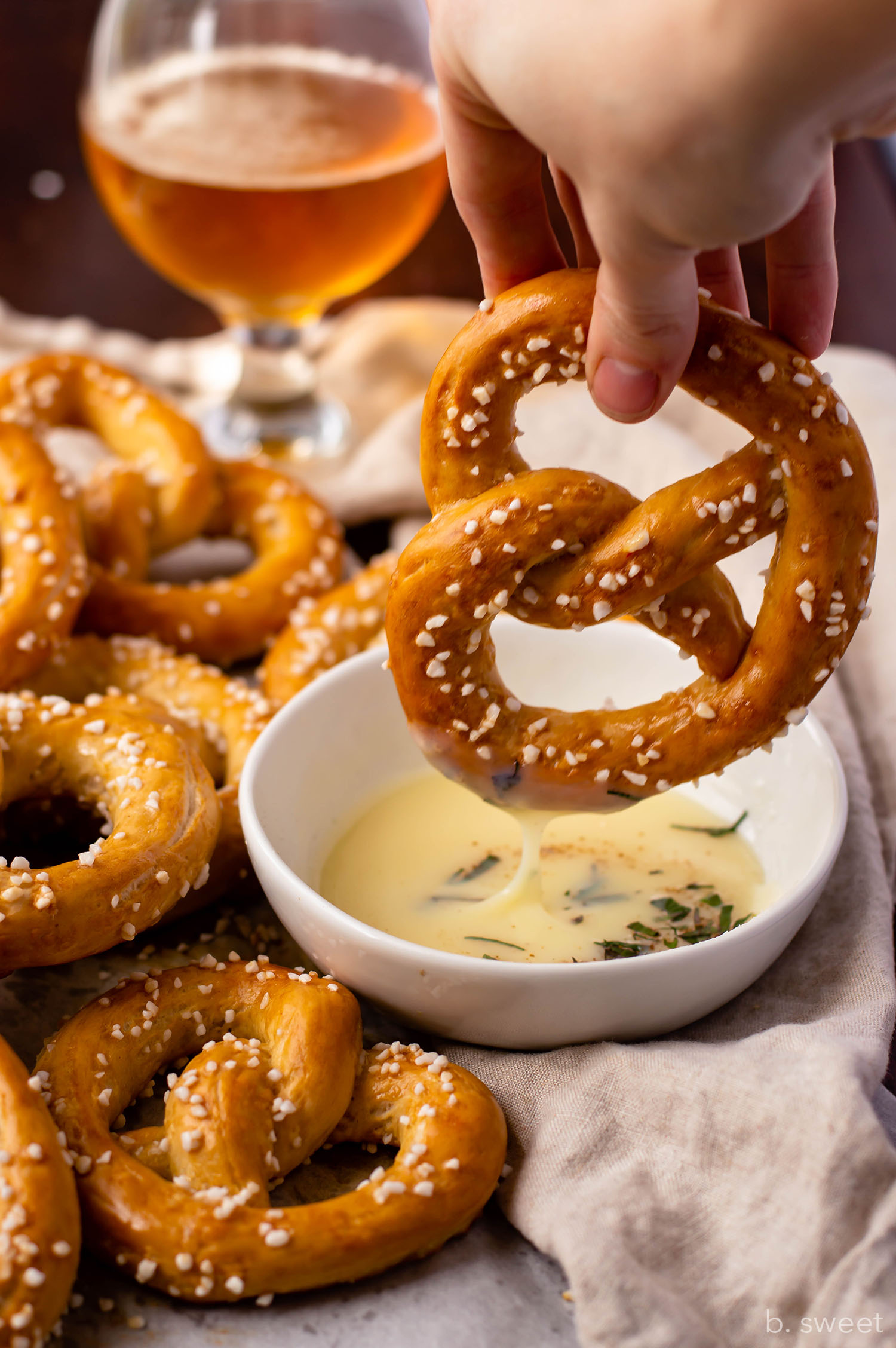 Beer, Pretzels and Cheese Dip April Fool's Day Dessert - b. sweet