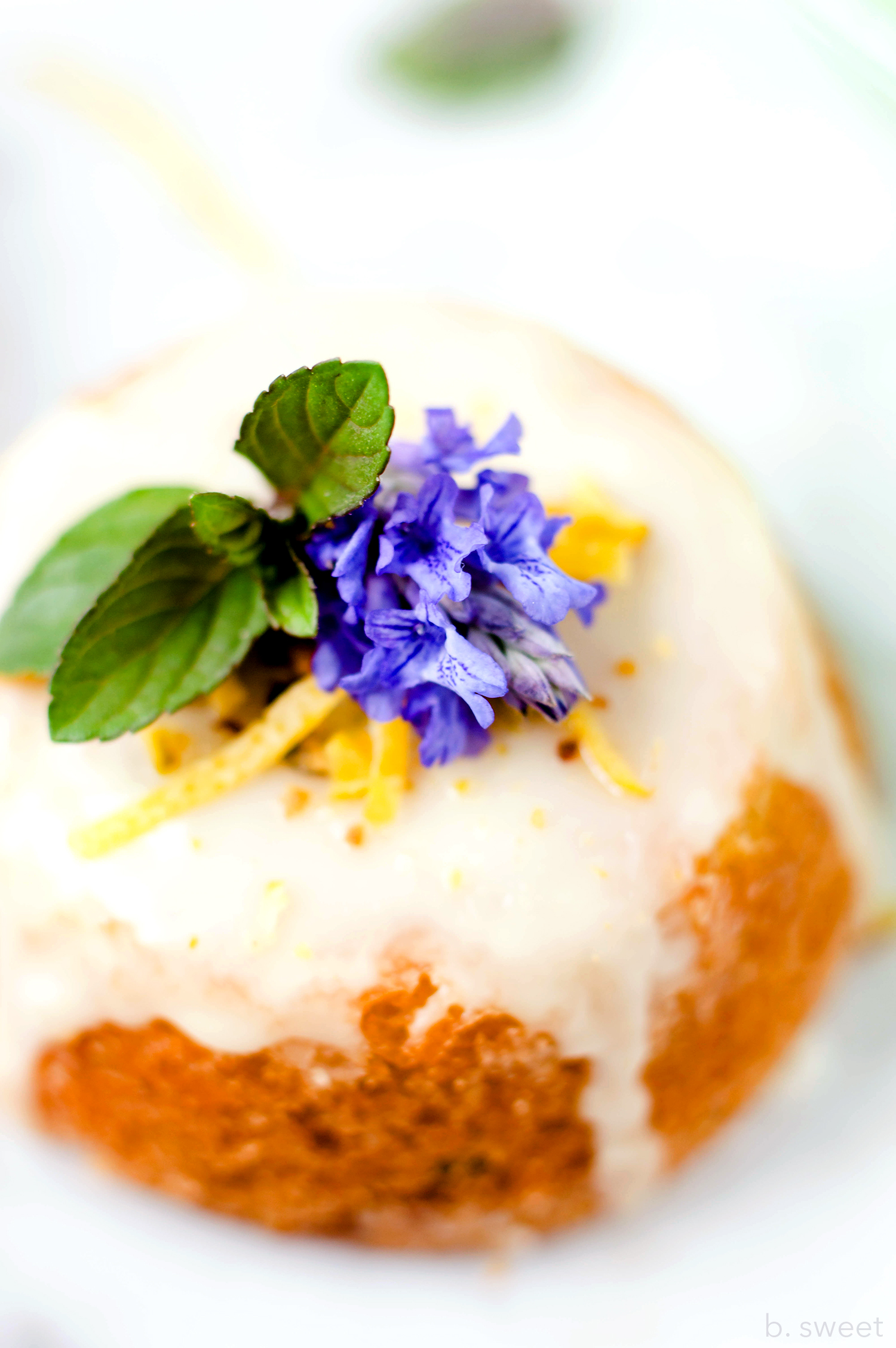 Lemon Zucchini Tea Cakes - b. sweet