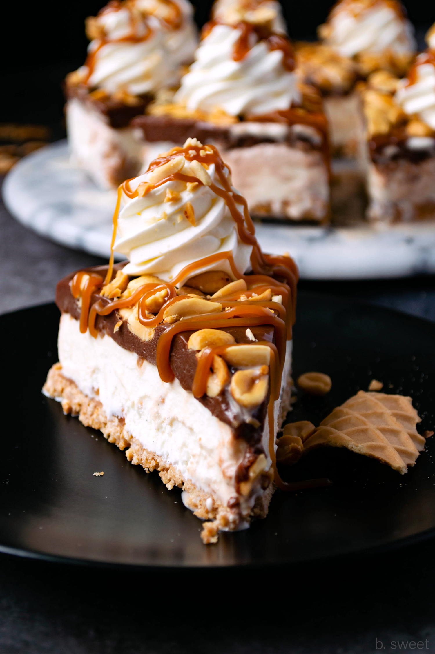 Hot Fudge Ice Cream Pie with Salted Peanut Butter Caramel  - b. sweet