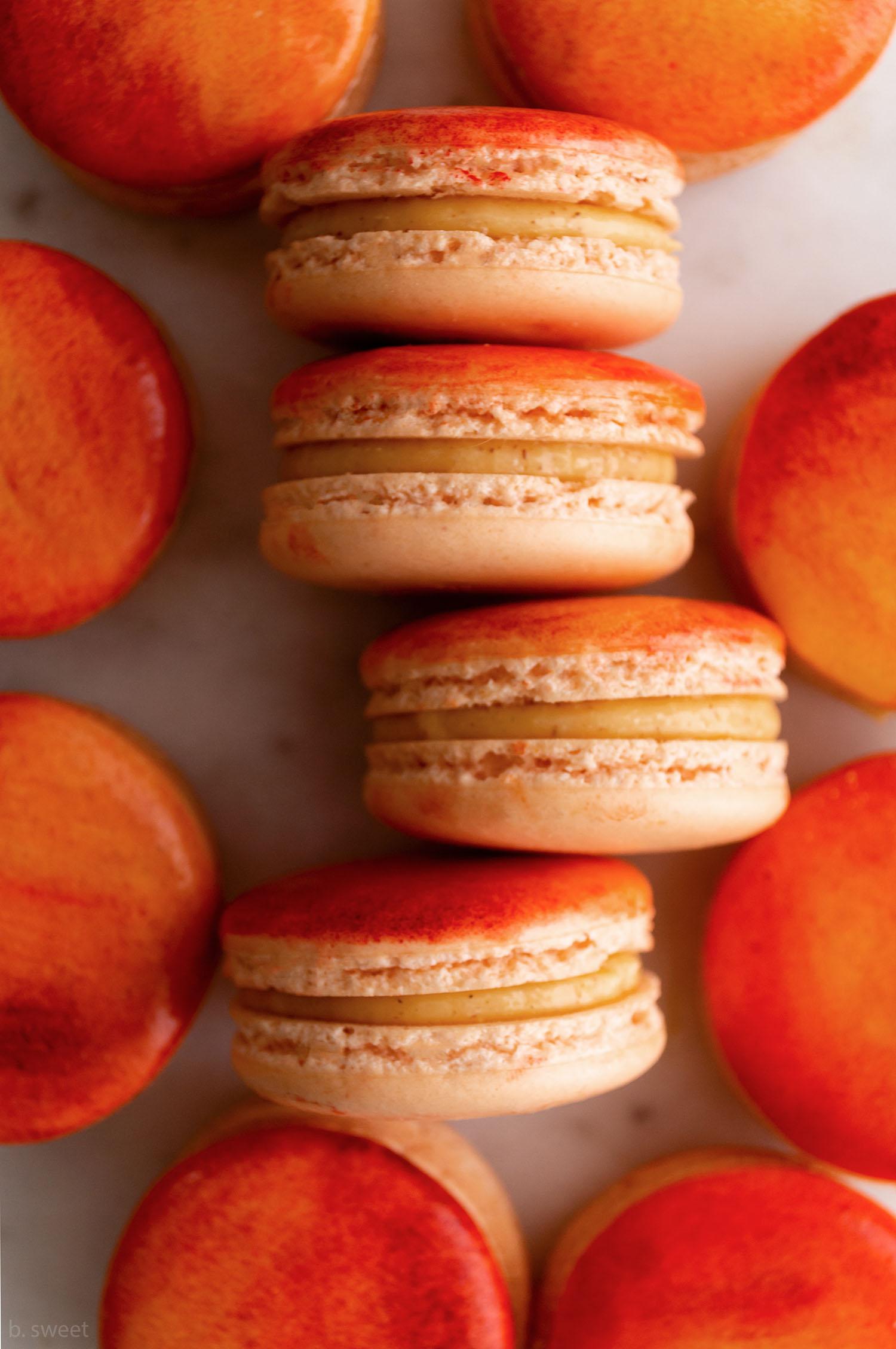 Peach Cobbler Macarons 2.0 - b. sweet
