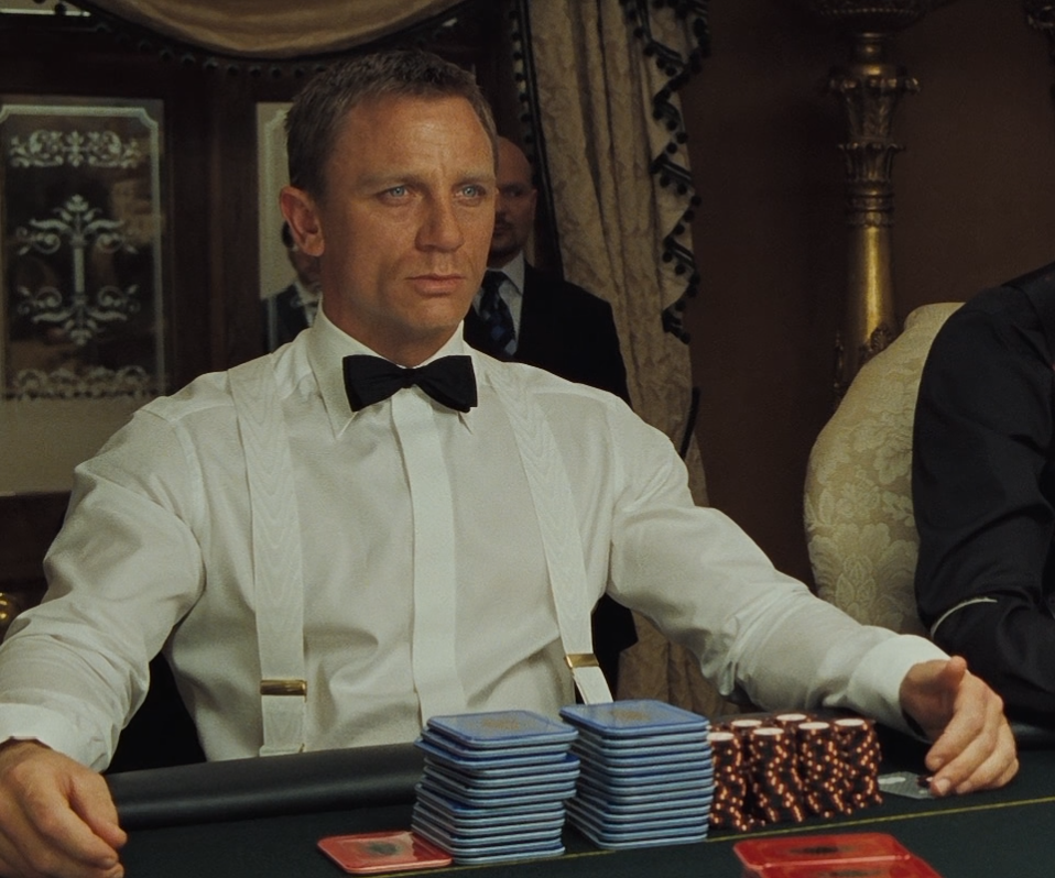 Daniel Craig as James Bond in Albert Thurston braces.