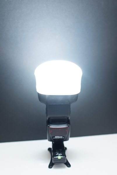 Flash with mag sphere diffuser -