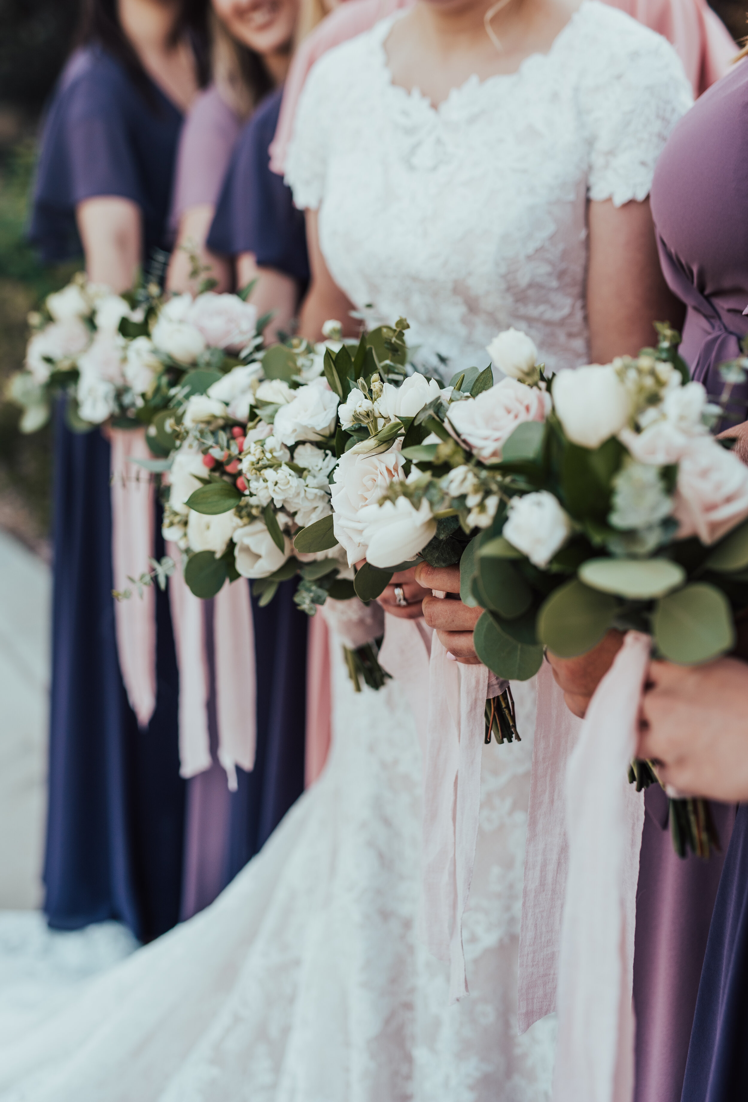 Payson Utah Temple payson utah wedding utah photographer wedding pictures bridesmaids and bride pictures outside the temple sealed for eternity wedding bouquet bridesmaid bouquets white and pink wedding flowers purple bridesmaid dresses bridesmaid outfit inspo wedding bouquet with ribbons lace wedding dress modest wedding gown #utahweddingphotographer #utahvalleyphotographer #weddingday #weddingdress #bride #bridetribe #bestfriends #weddingbouquet #bridesmaidpictures #love #sisterhood