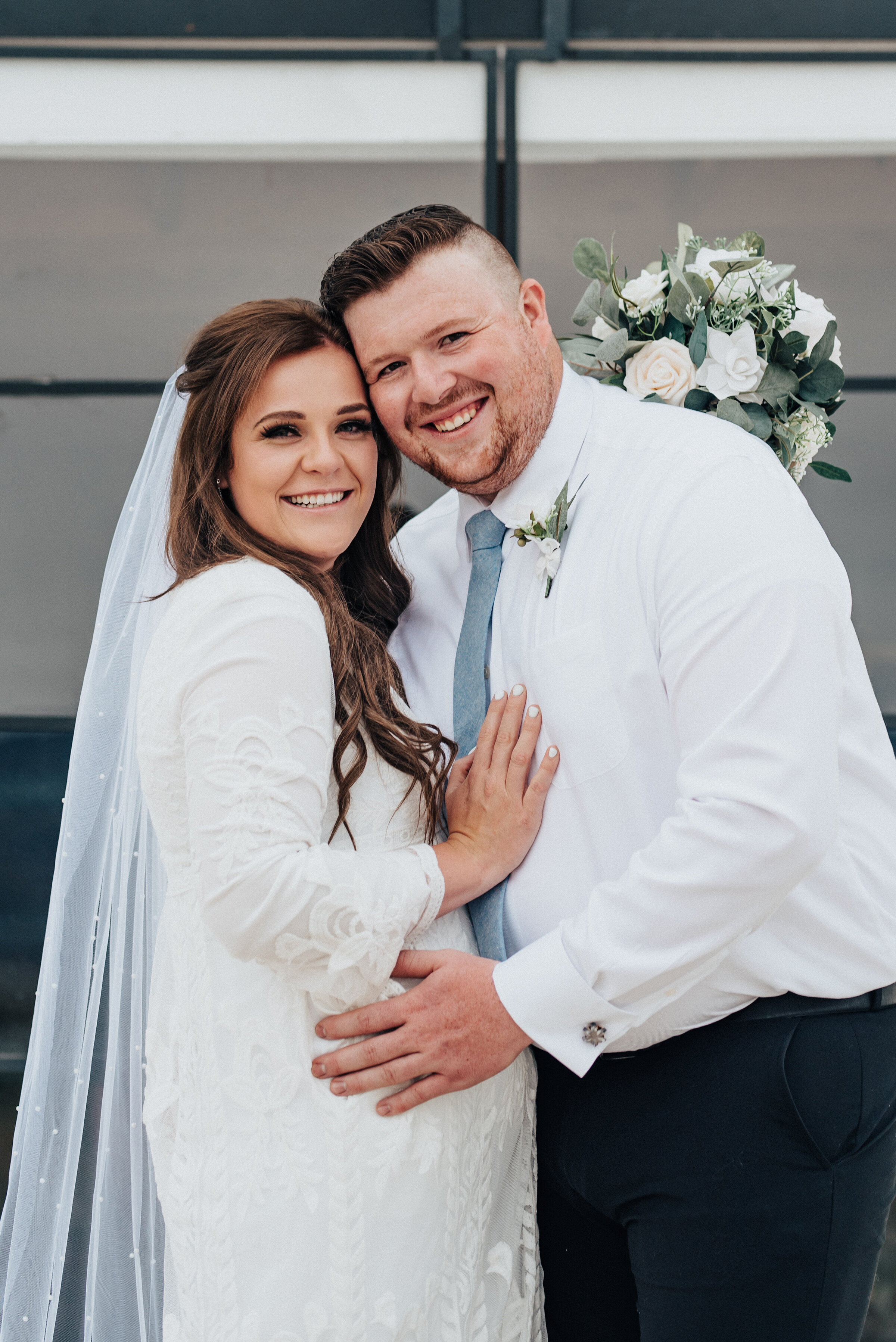 Blushing bride and groom after their intimate wedding ceremony in Ephraim, Utah. photoshoot in Ephraim Utah photography wedding outdoor location western inspired rustic Airbnb photo aesthetic #ephraimutah #utahphotography #weddingdayphotography #gettingmarried #rusticwedding #utahwedding #westernstyle #weddingphotoshoot