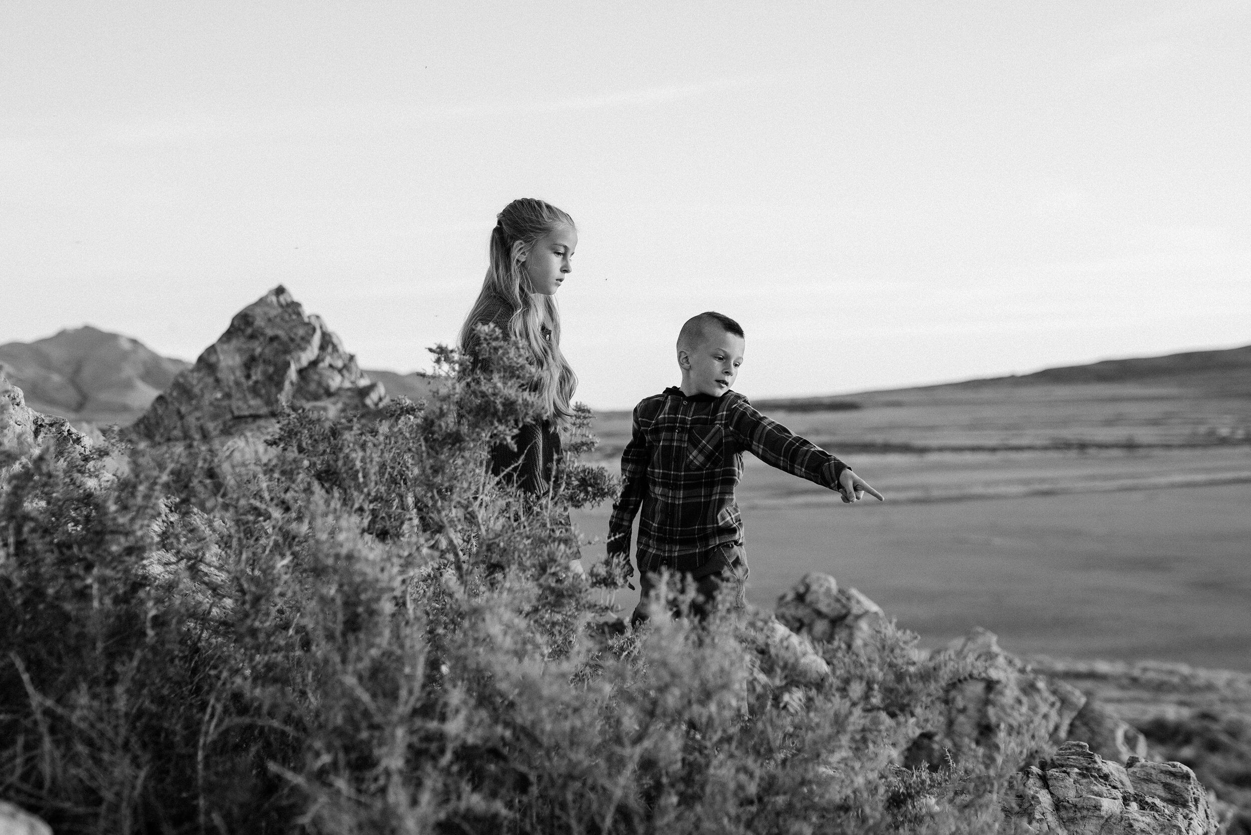 Brother and sister explore Antelope Island together in a unique and playful family photo shoot session by Kristi Alyse Photography. Fall goals brother and sister goals black and white photo shoot inspiration ideas and goals outdoor photo shoot aesthetic inspiration ideas and goals Utah family professional family photographer  #familypictures #utahphotographer #antelopeisland #outfitinspo #familypics #familyphotographer #pinkhair #saltlakecityphotog #slcfamilypictures