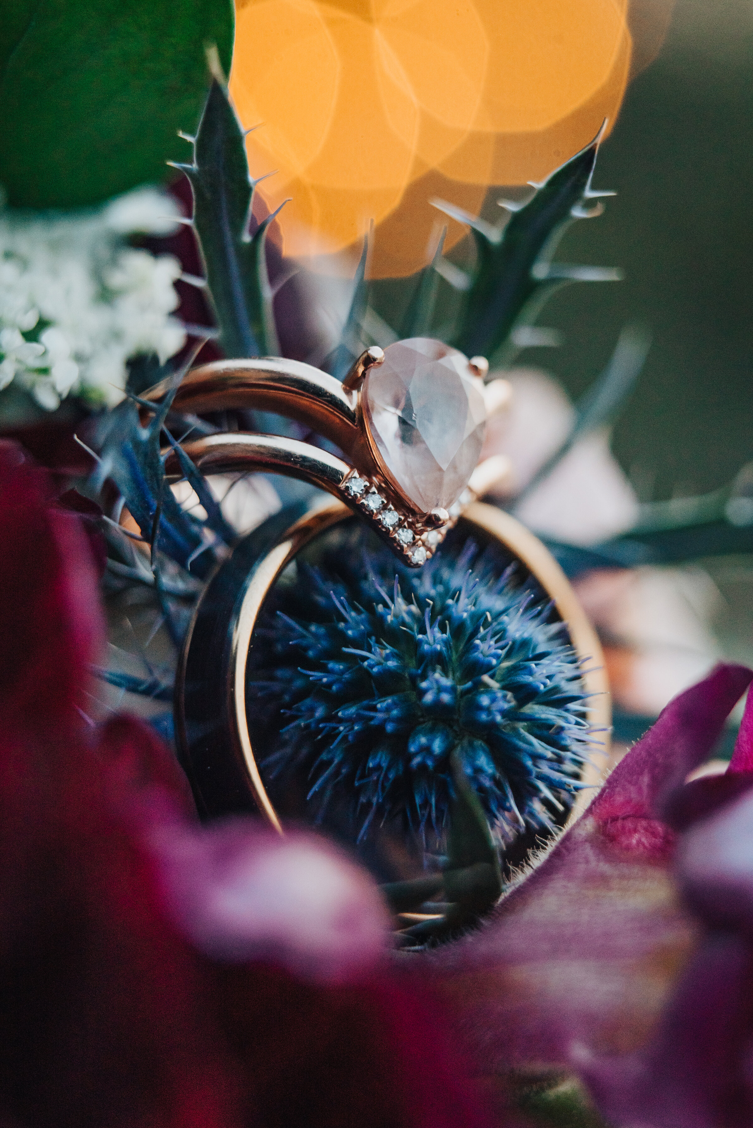 A close up shot of the rings shot by Kristi Alyse photography in northern Utah. Wedding ring inspiration bride and groom rings floral bouquet wedding details photos logan Utah oval diamond gold band wedding flowers wedding day #weddinginspo #loganutah #brideandgroom #utahbride #utahweddingphotographer #meaningfulmoment#weddingphotography #northernutahwedding #weddinghairstyles #weddingday #bridals