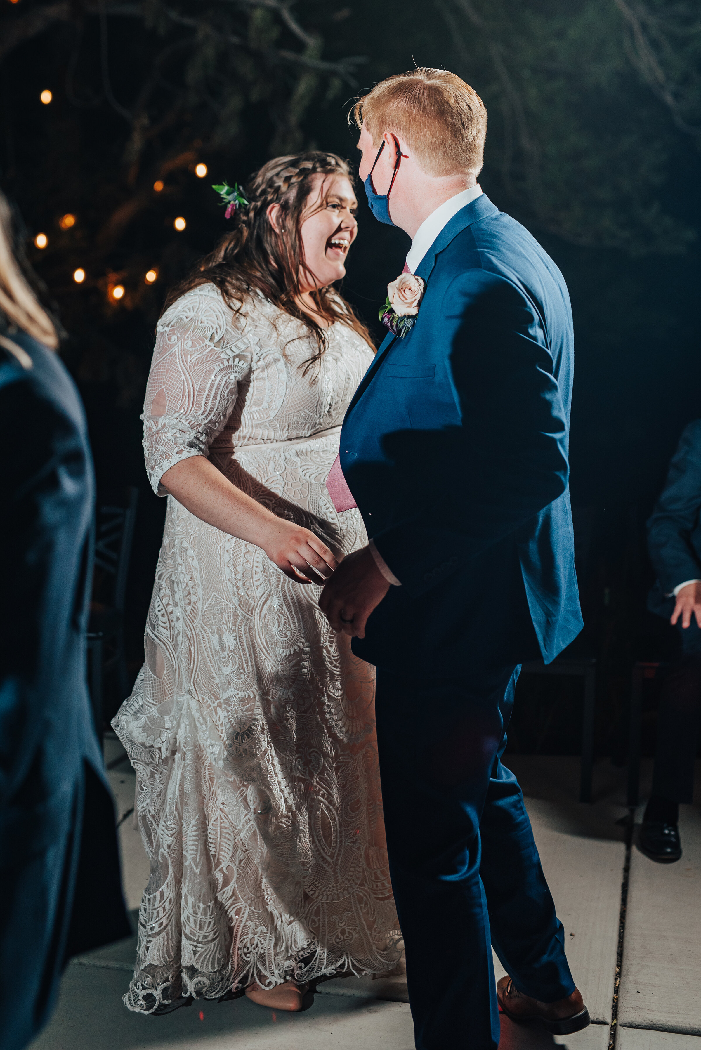The moment the bride and groom say farewell to guests in Logan, Utah wedding shot by Kristi Alyse photography. Bride and groom escape send off honey moon wedding day inspo laughter in the night time northern Utah Kristi Alyse photography Utah bride #weddinginspo #loganutah #brideandgroom #utahbride #utahweddingphotographer#meaningfulmoment #weddingphotography #northernutahwedding #weddinghairstyles #weddingday #bridals