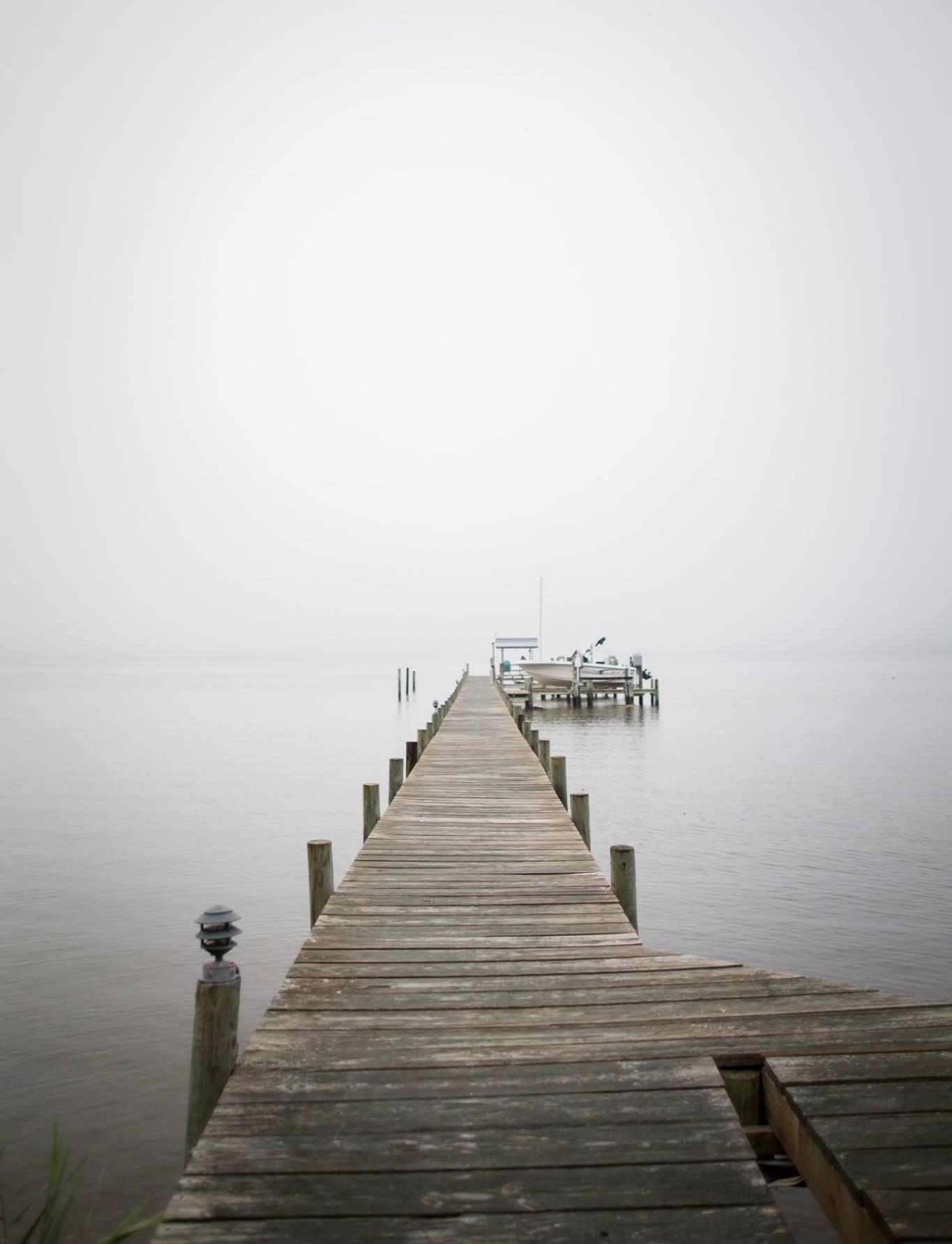 Morning on the pier. Deltaville, VA.  Photo by Brittany Fan.