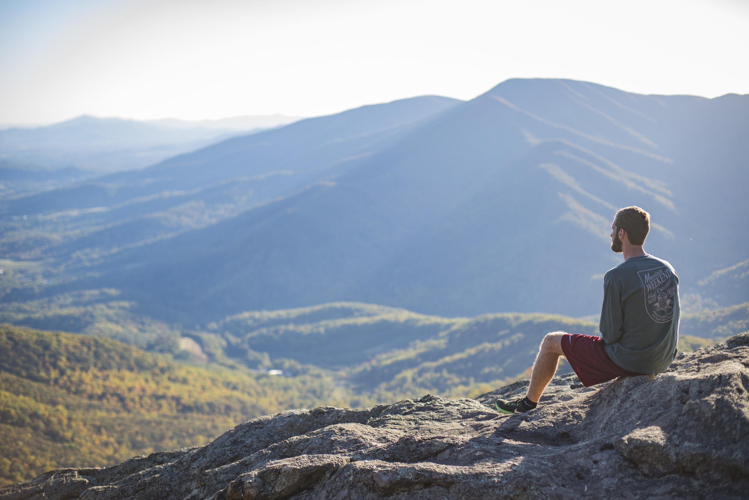 Three Ridges Hike, near Charlottesville, VA.  Photo by Brittany Fan.