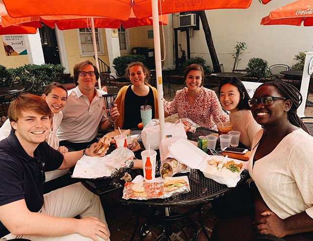 When HALF of the fellows work on Grounds at UVA and get to take a Monday lunch break together!! Sweet people sweet times!
