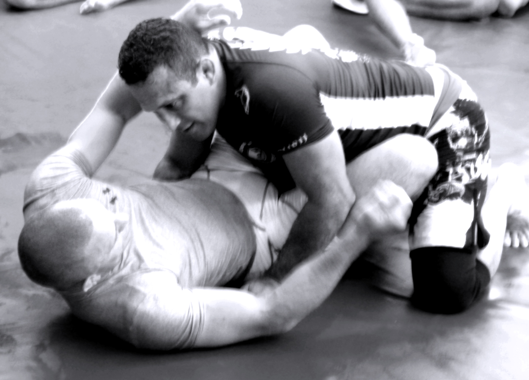 RENZO GRACIE TRAINING IN NO-GI CLASS WITH UFC CHAMPION GEORGES ST.PIERRE