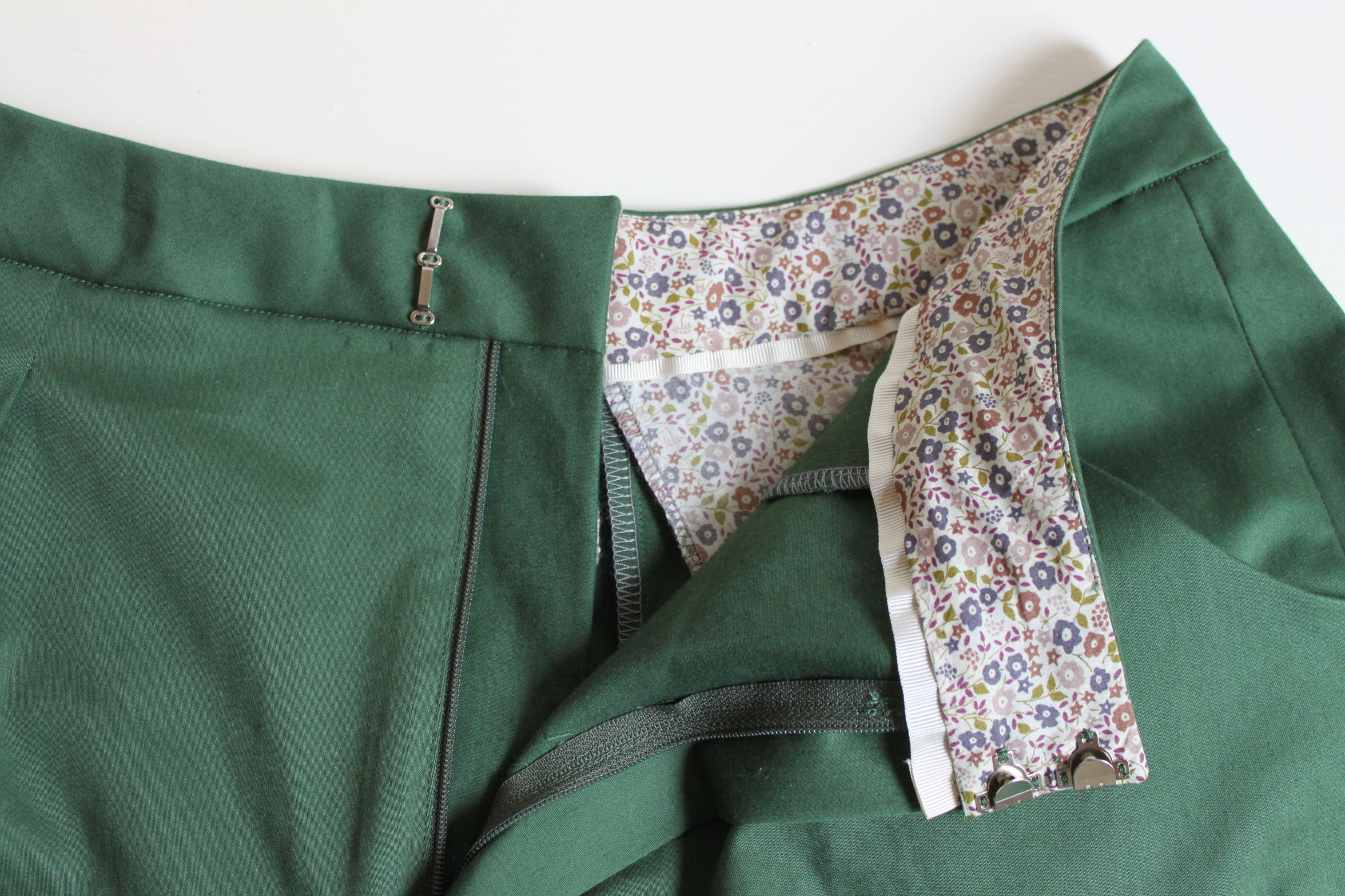 DIY culottes fly front