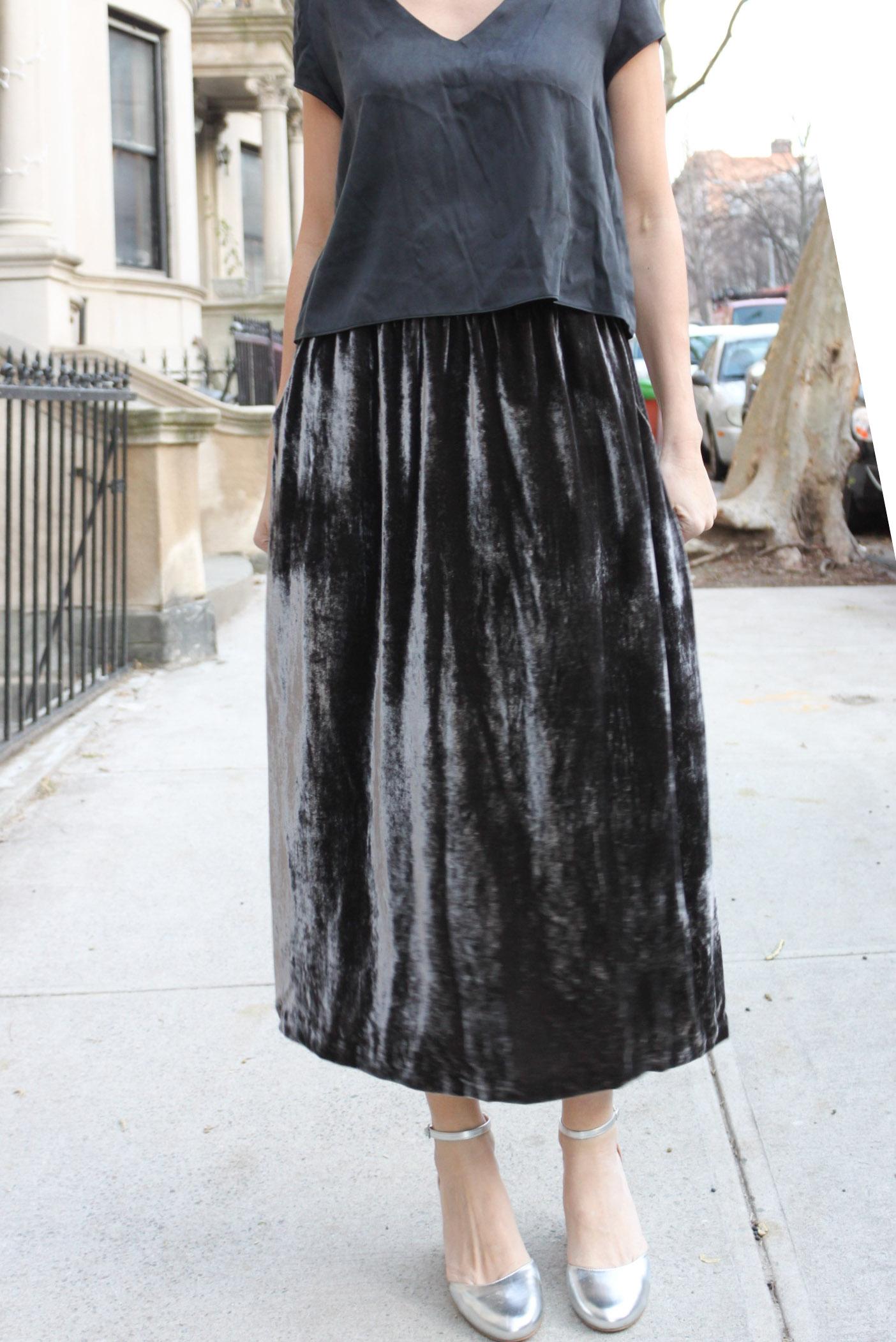 Velvet skirt 4