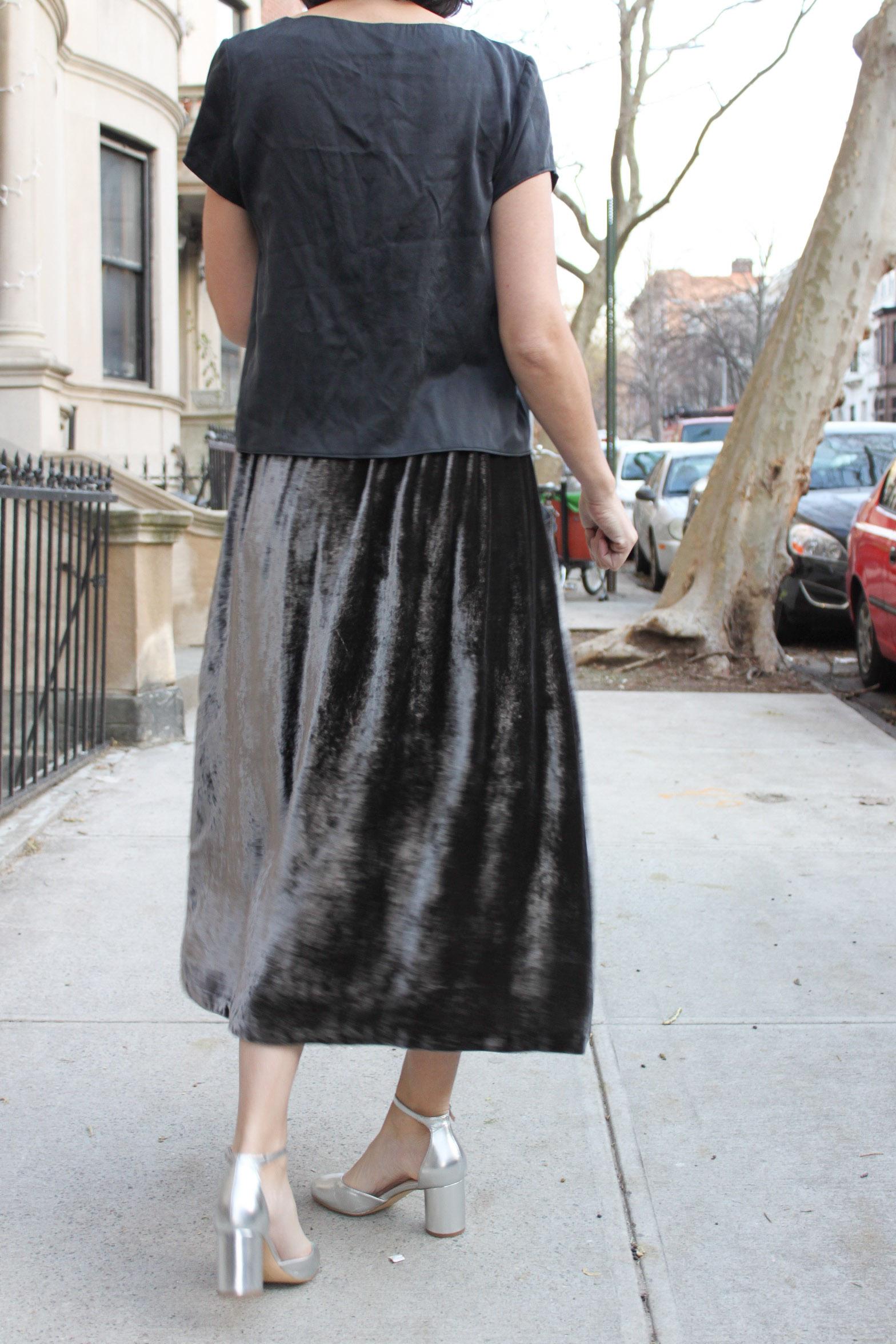 Velvet skirt 6