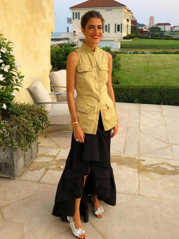 Leandra Medine Cohen wearing  Rosie Assoulin