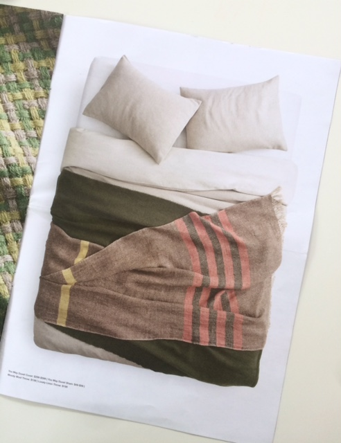 "Lovely Linen throw in Color Mix 1 in the  ""Designed""  Blu Dot mailer, May 2018"