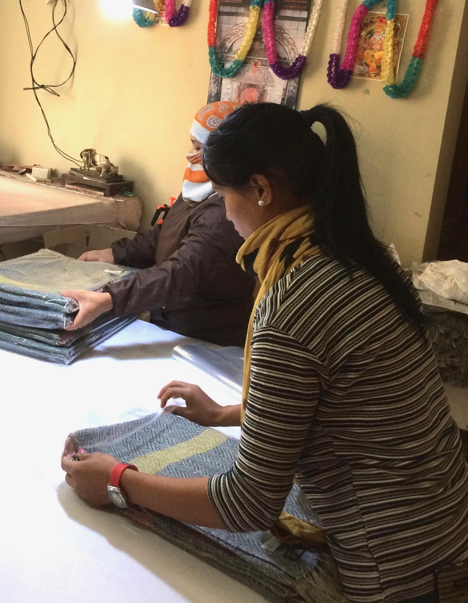 Folding and packaging in Kathmandu