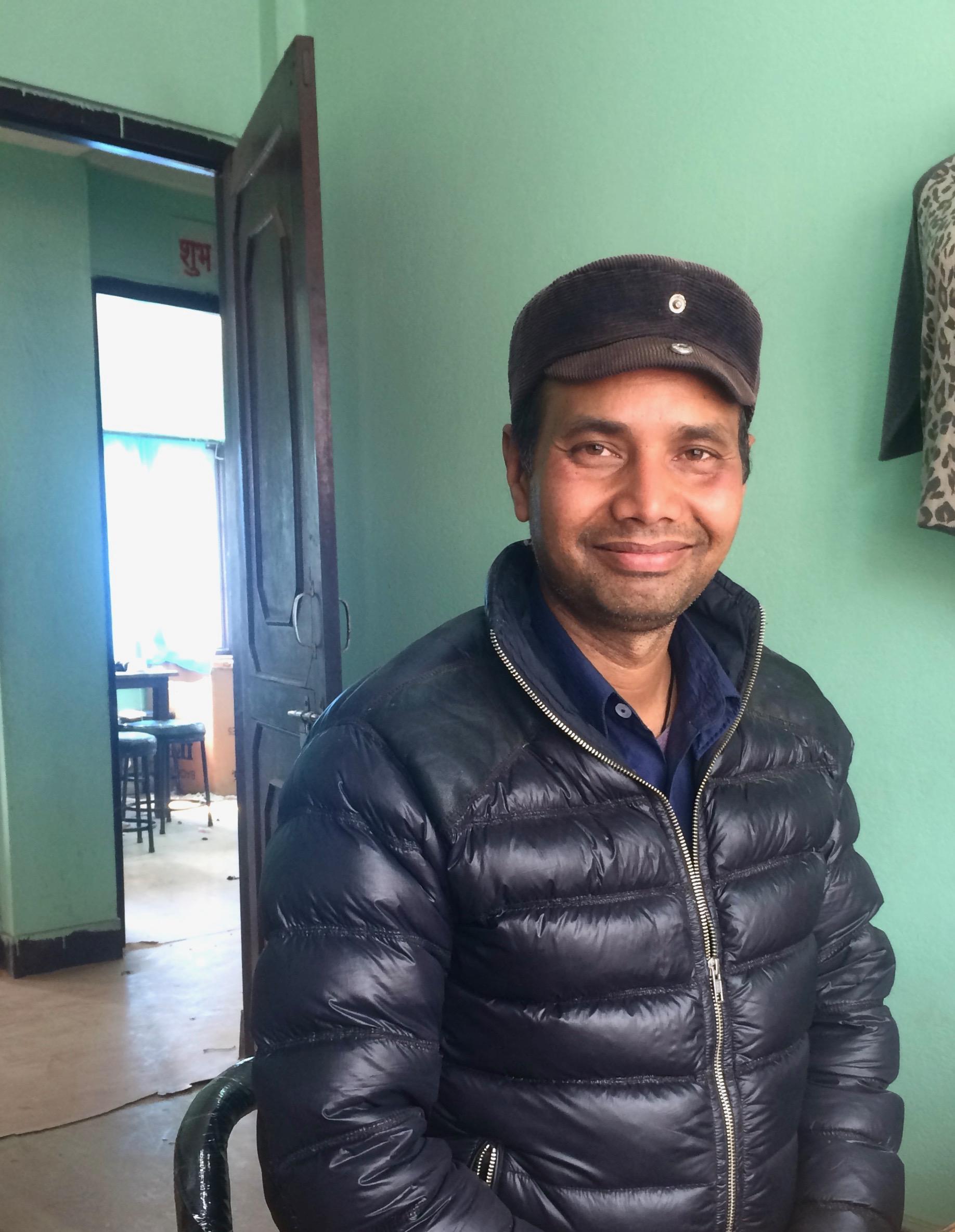 Ganga at his work table