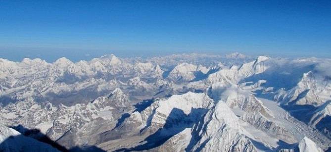 view from summit of everest