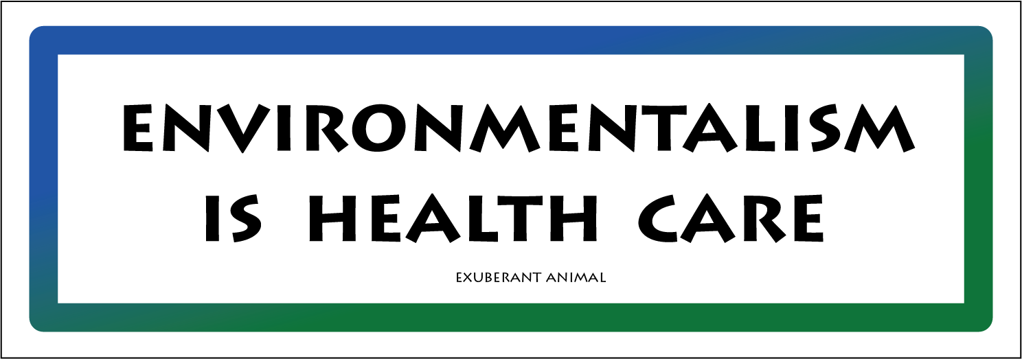 environmentalism is health care.png