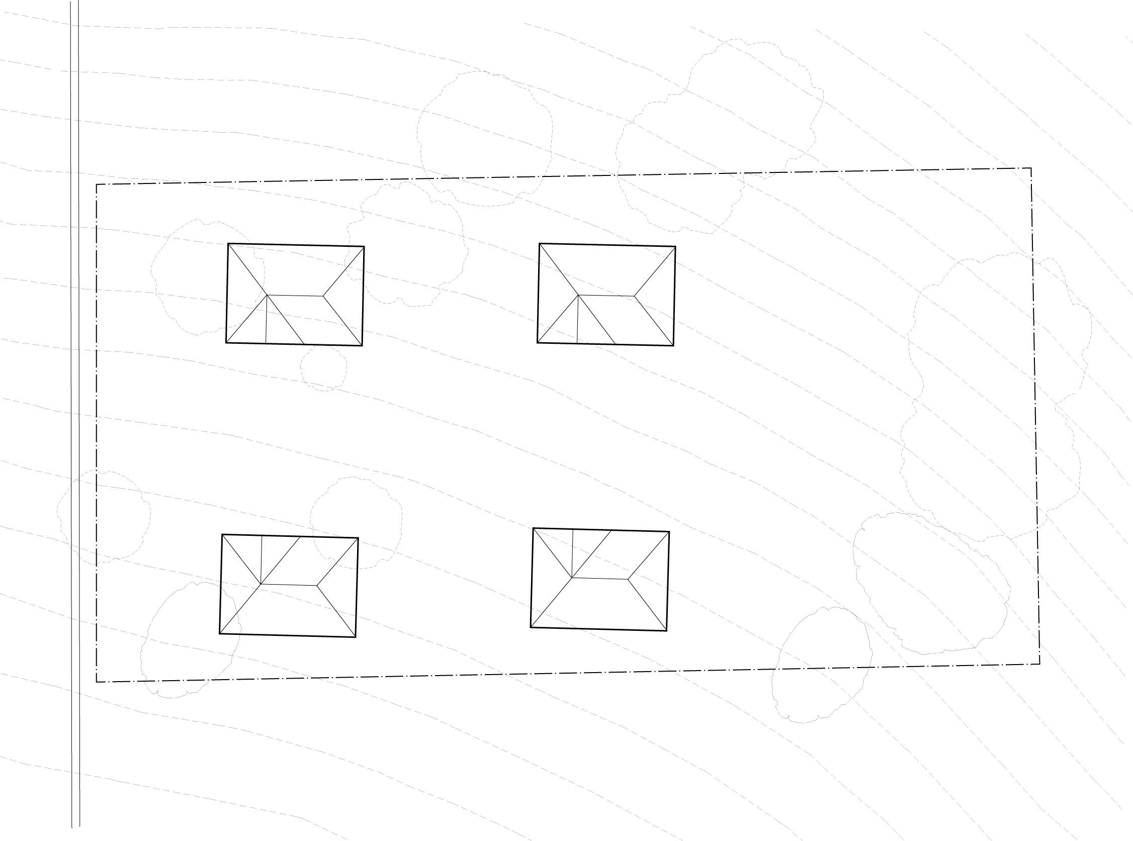 Site plan showing bungalow court arrangement.