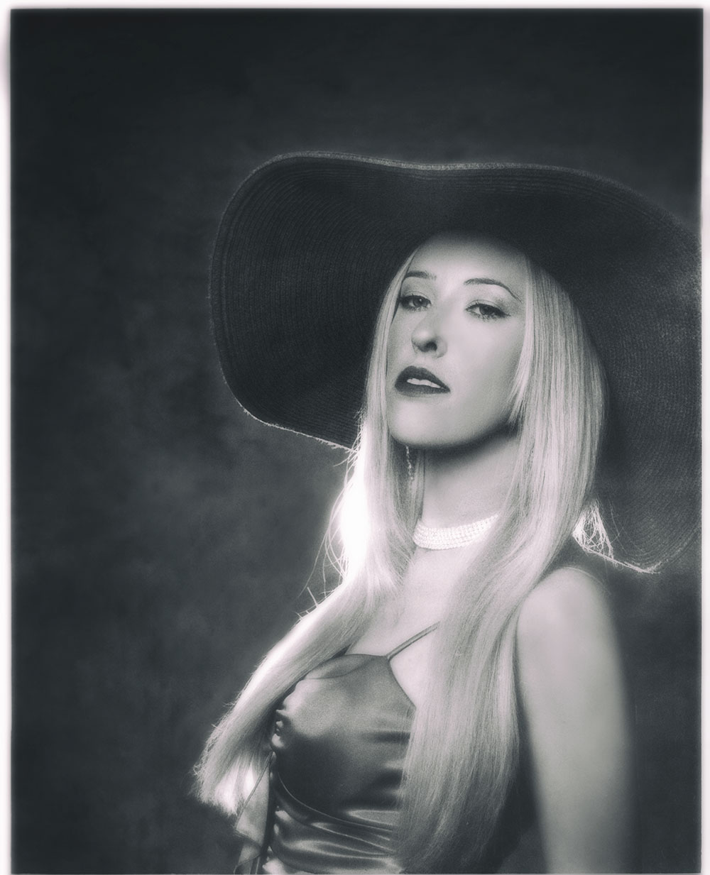 Amy S film noir classic film black and white portrait