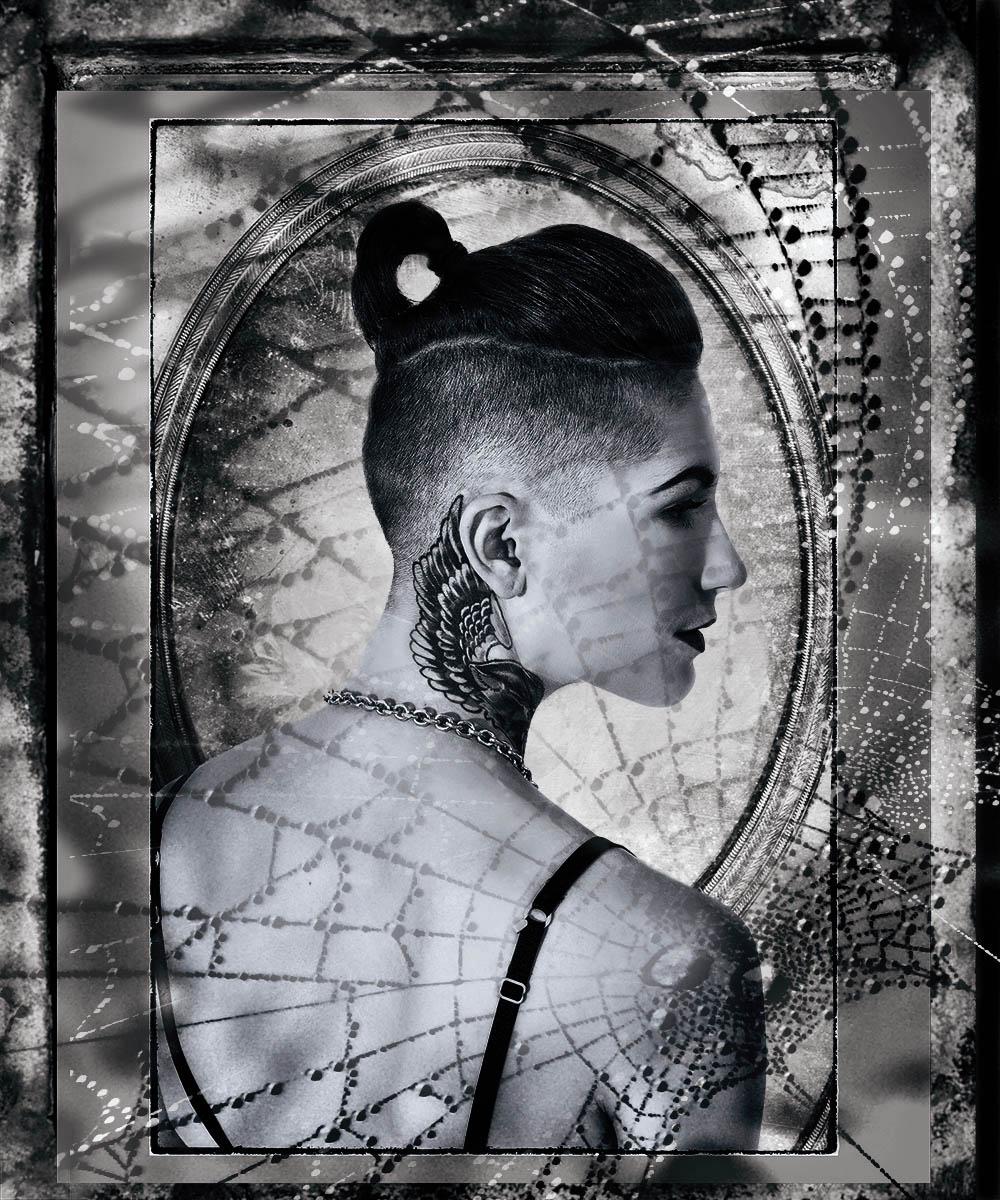 Tattoo model.  Fine Art Portrait