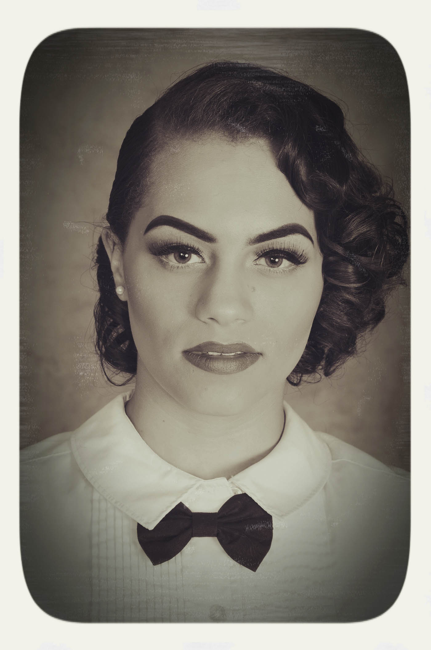 Vintage black and white photo, sepia toned
