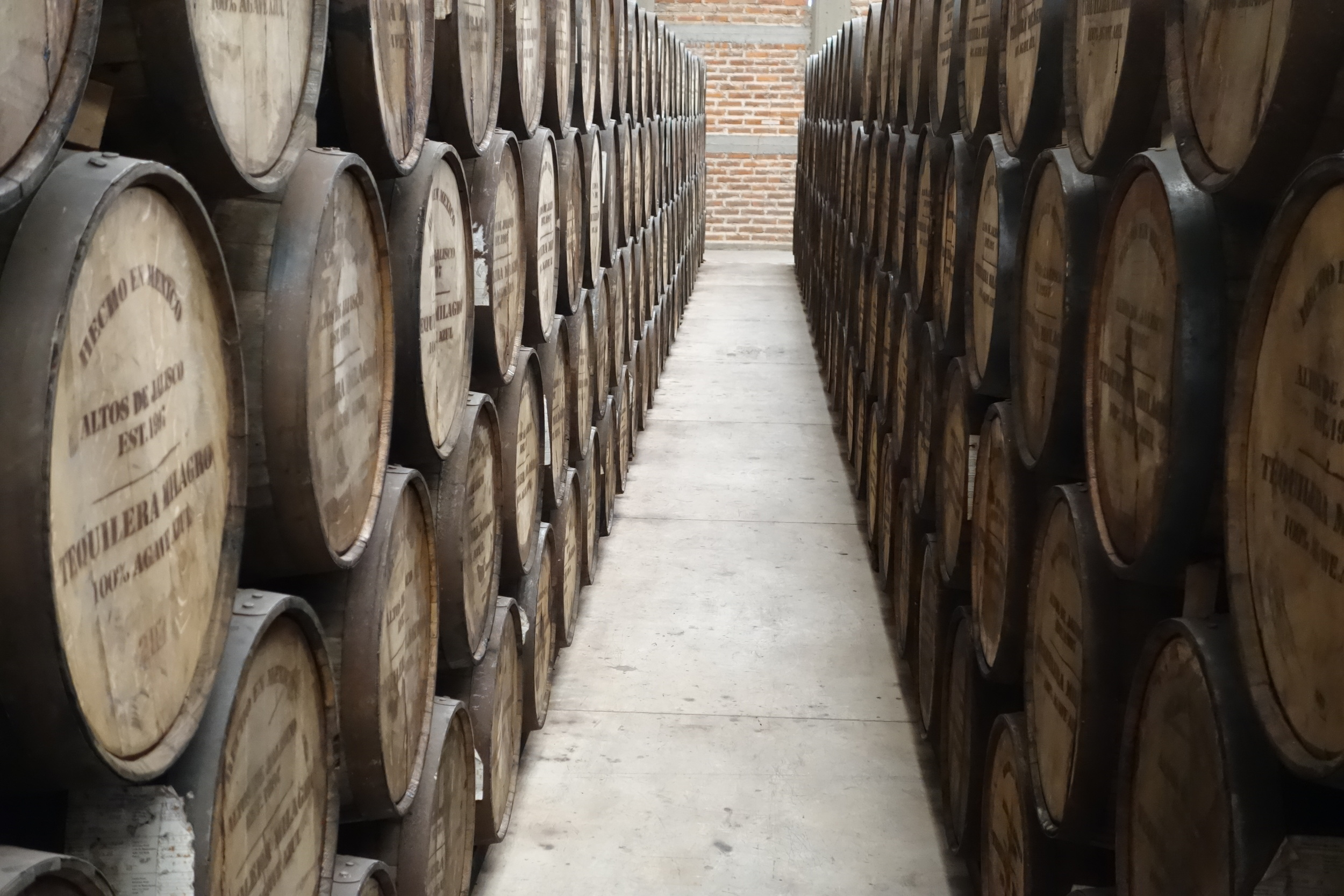 """the barrel aging room at Milagro. The smell of bourbon from the barrelsis """"intoxicating"""" when you walk in the door"""