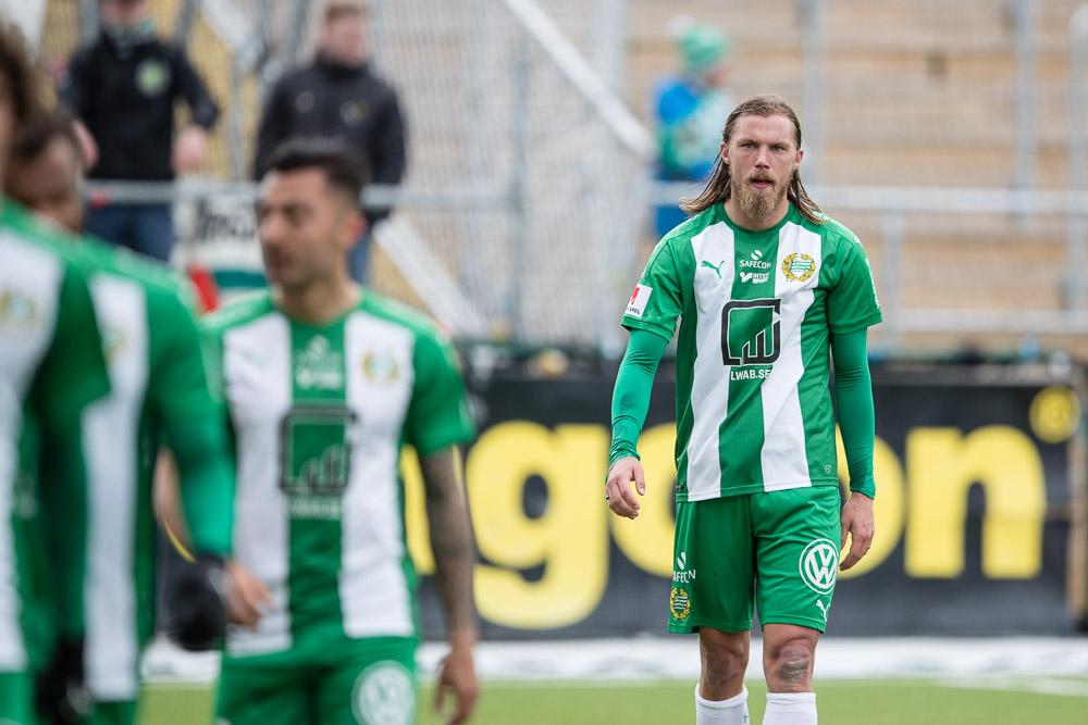 Hammarbys Björn Paulsen deppar efter att Hammarby förlorat med 2-1.