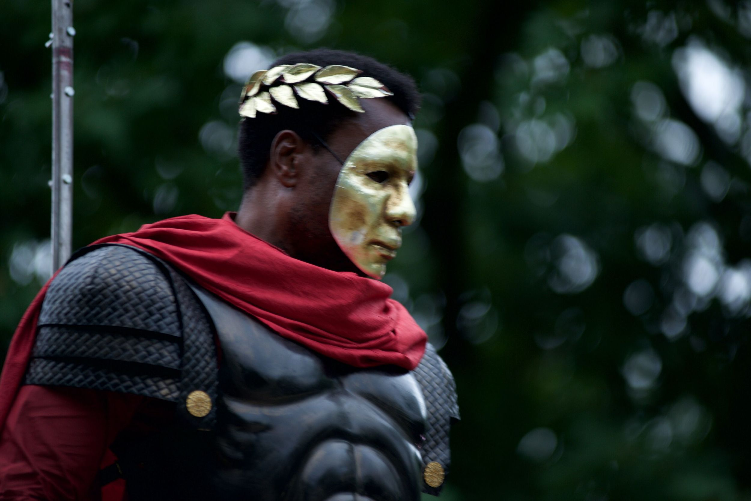 Julius Caesar.   Canadian Stage Shakespeare in High Park 2015. Direction: Estelle Shook. Costume Design: Michelle Tracey. Photo by: Lyon Smith