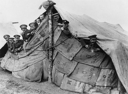 wwi soldiers improvised tent.jpg