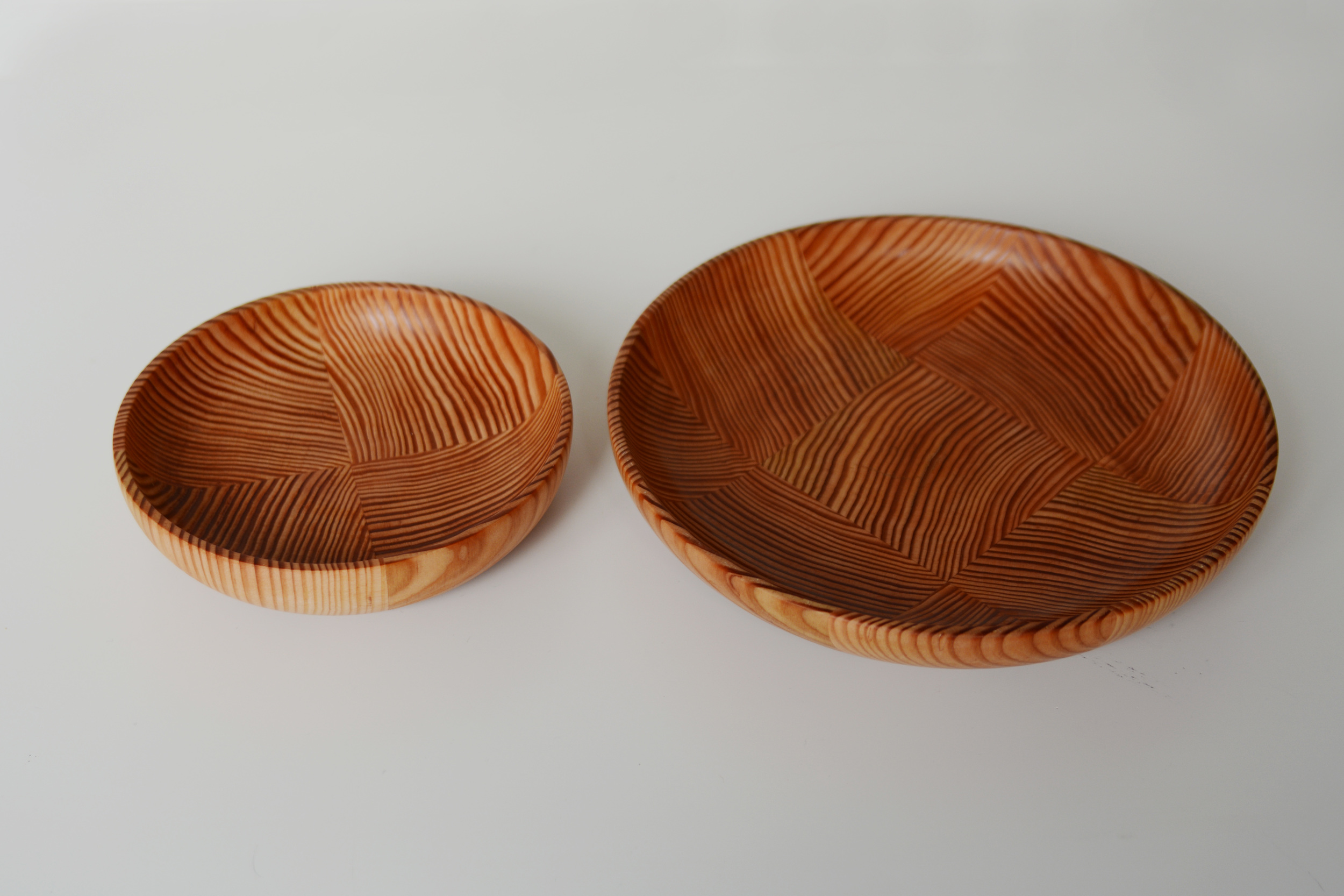plates: dagulas fir  pactched vertically to show the ring growth.