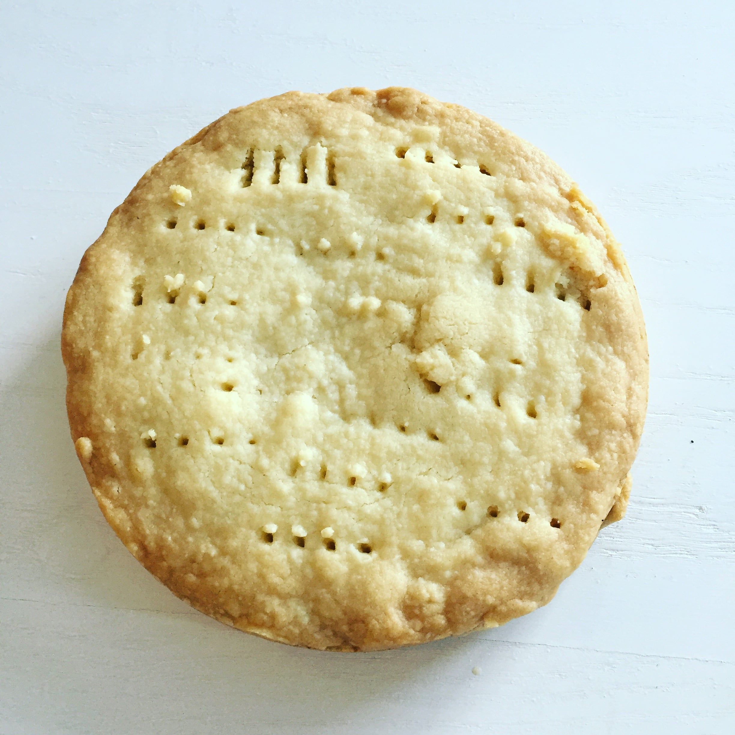 The finished traditional shortbread.