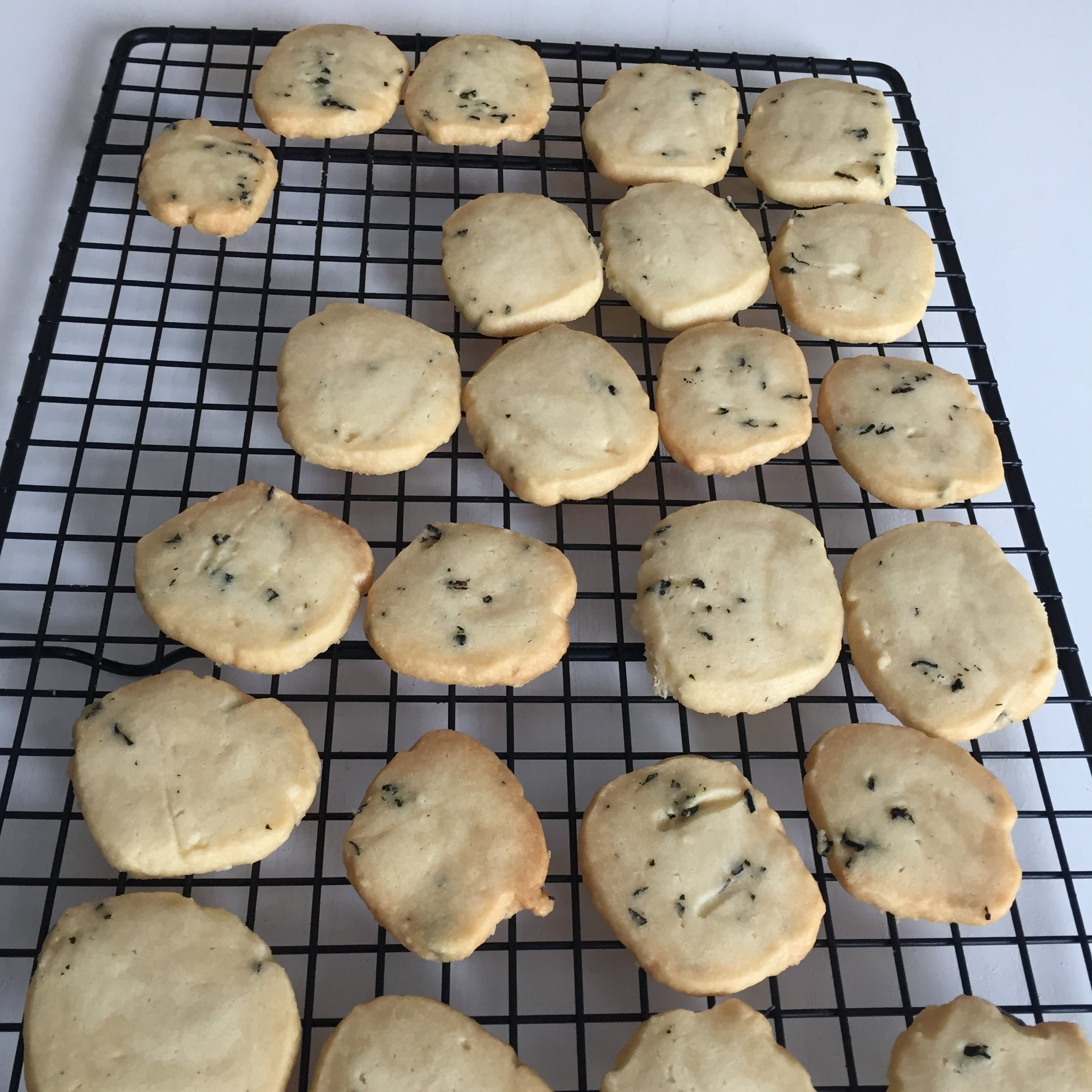 Fresh out-of-the-oven Creme of Earl Grey Cookies.