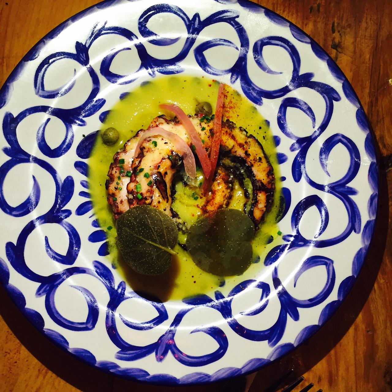 Oktapodi,  grilled octopus.
