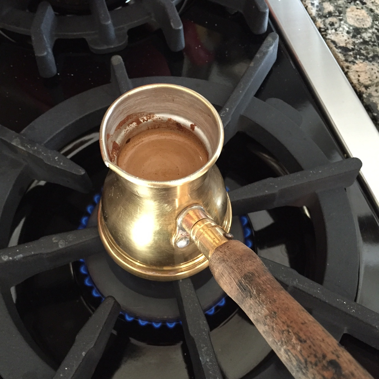 Dessert always comes with Turkish Coffee