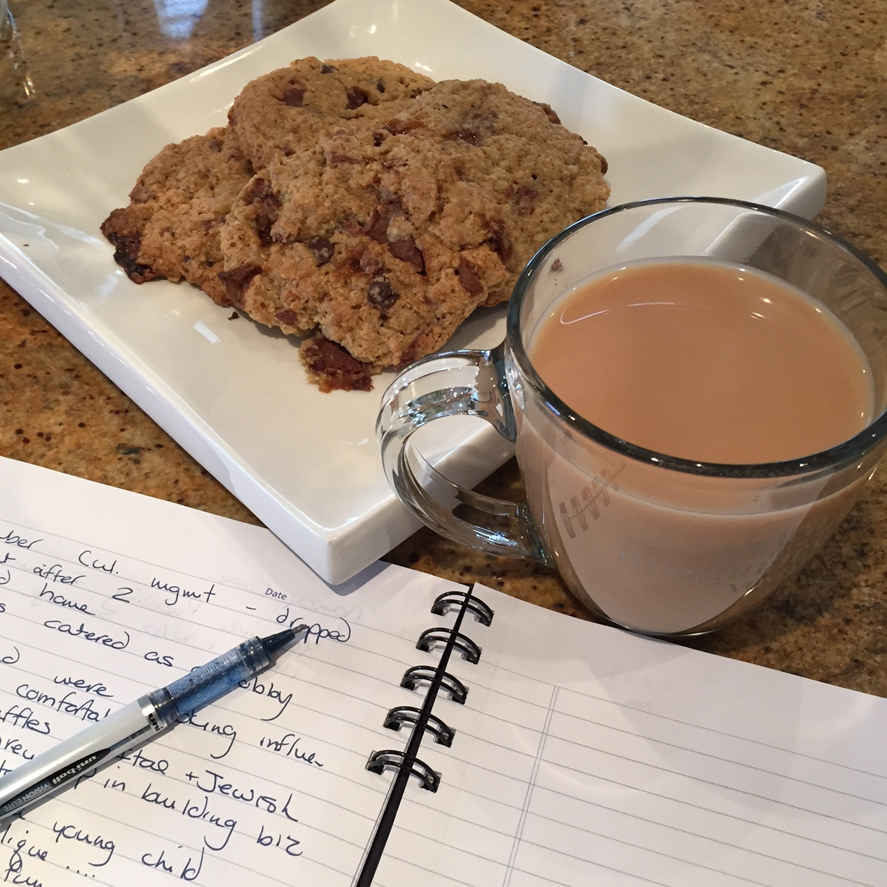 A warm cuppa and the best Oatmeal Skor Bar Cookies
