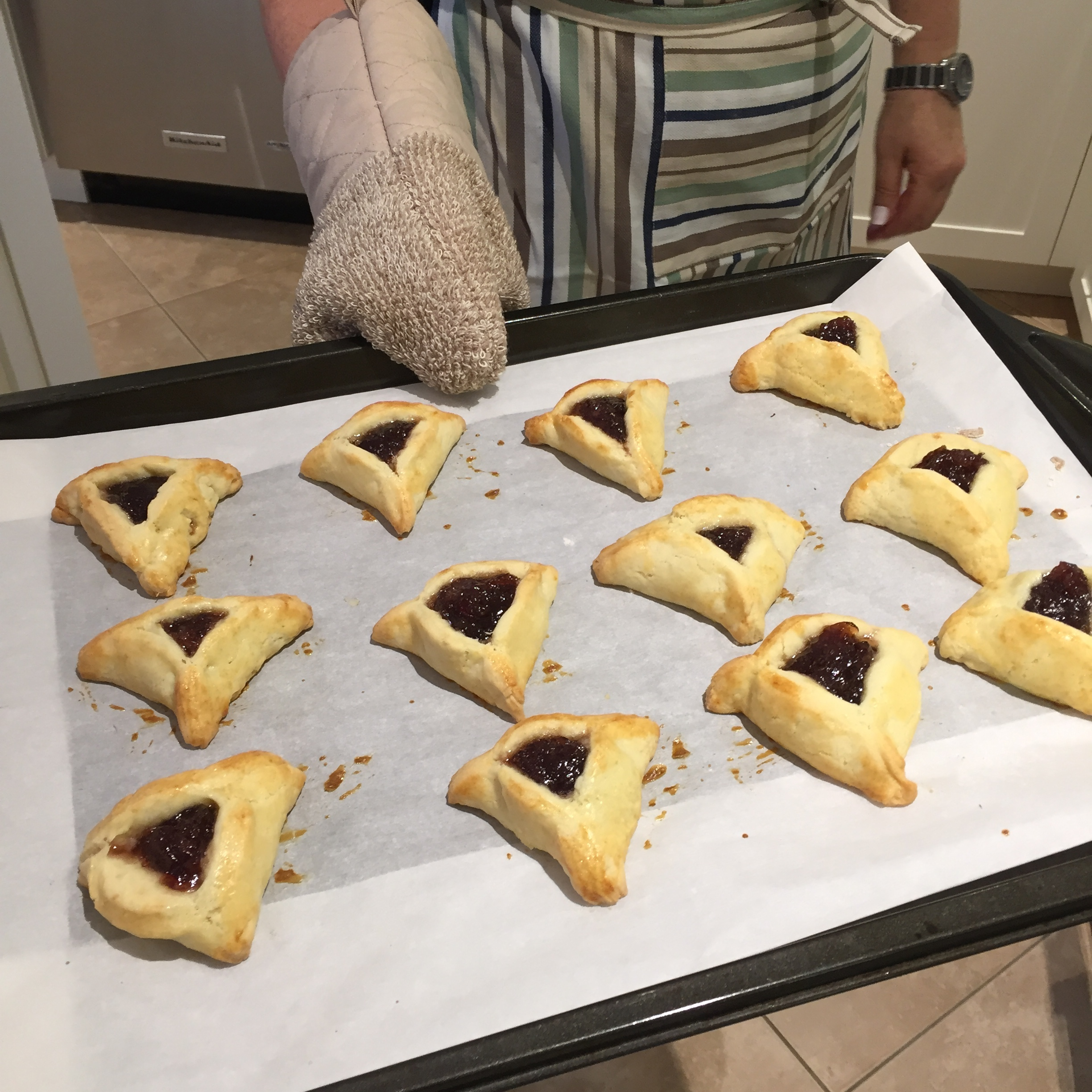 Hot out of the oven Strawberry Jam Hamantaschen