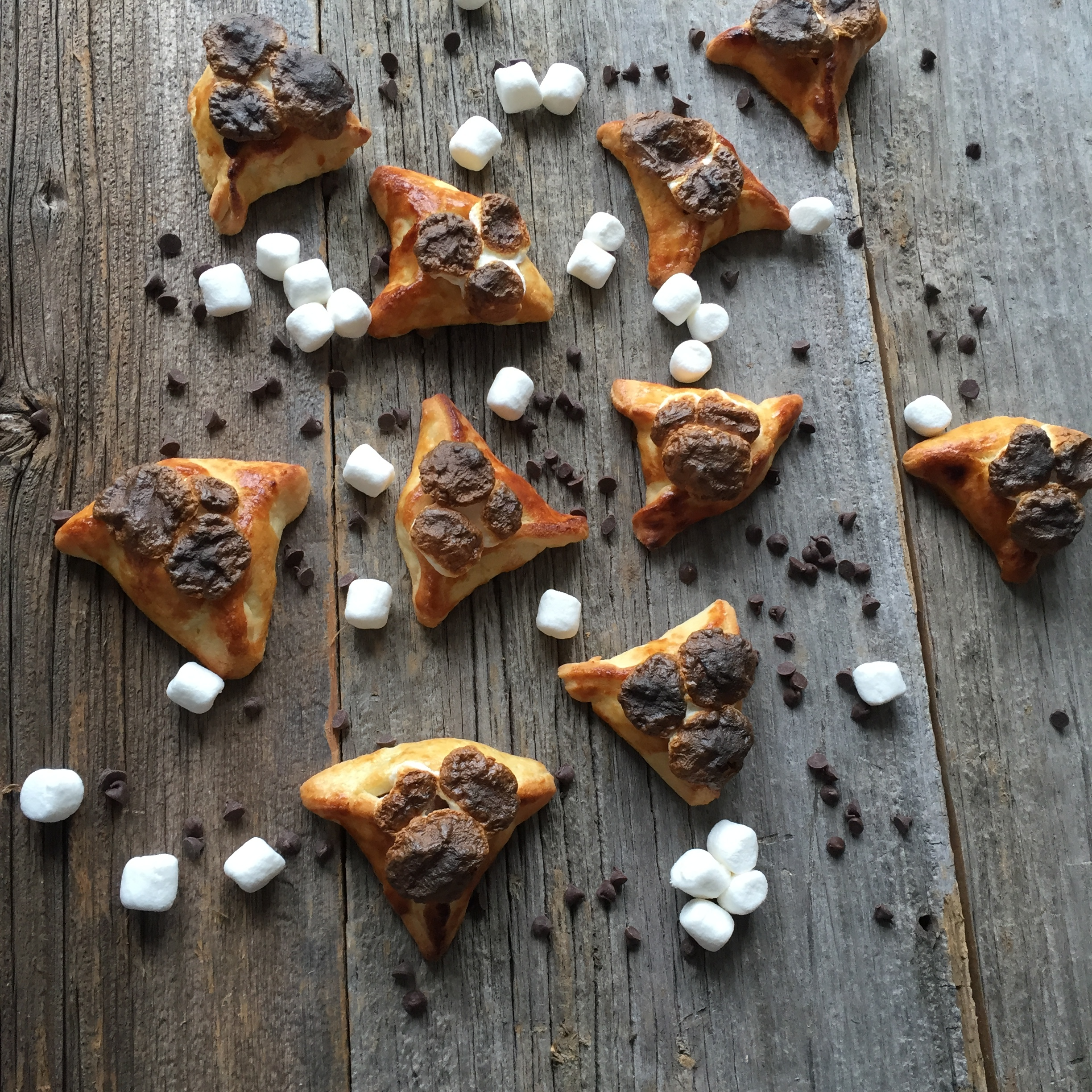 Smores Hamantaschen. Look at those burnt marshmallows!