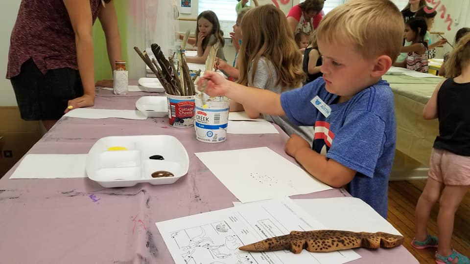 2019 Campadoodle Campers learning about indigenous cultures and creating art based on those peoples.