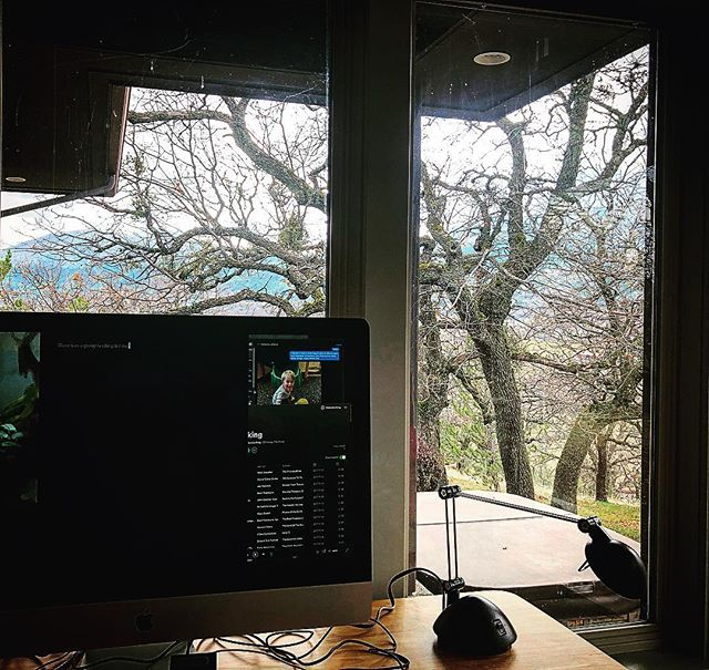 The new office. Or the current one. Deer have already moseyed by. Not bad. Not bad at all. #amwriting #writinglife #writingspace #readytowriteawestern #litrpg