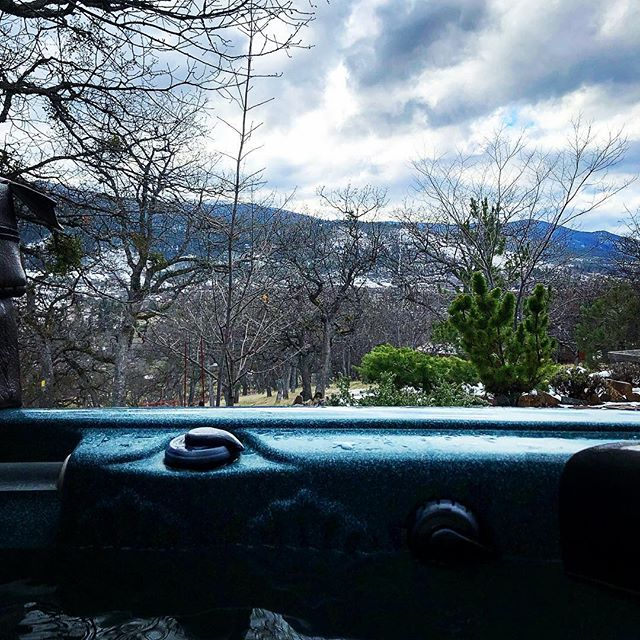 Today's office. #amwriting #inahottub #livingthedream