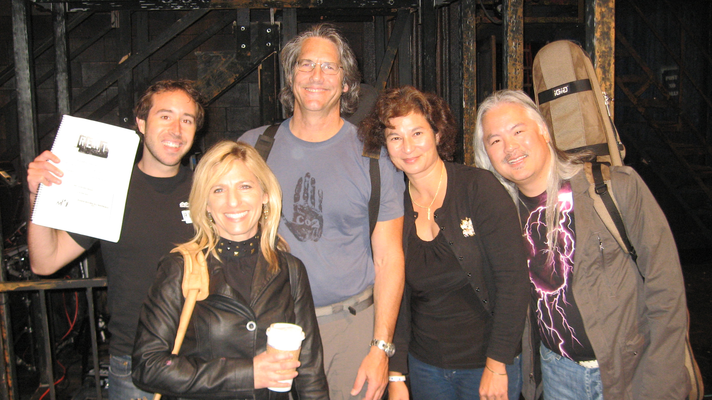 The RENT pit band - Lesher Center. Matt Smart, Kelly Fasman, John Imholz, Joan Cifarelli, Danny Min